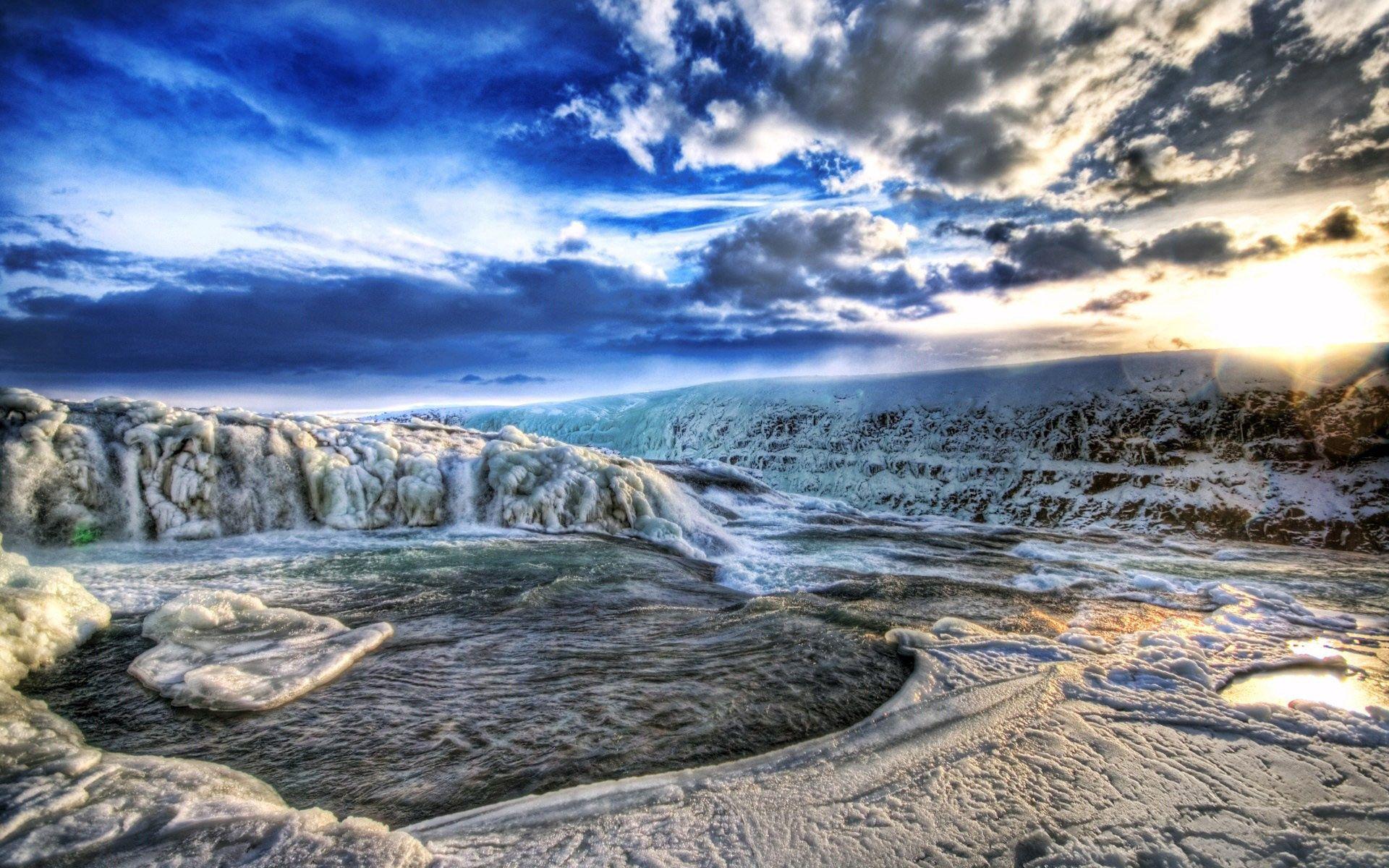 157192 скачать обои Природа, Ледники, Холод, Зима, Hdr, Горы - заставки и картинки бесплатно