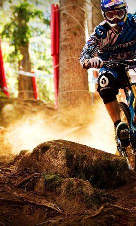 59523 descargar fondo de pantalla Deportes, Ciclista, Cruzar, Cruz, Cuesta Abajo, Irregularidades: protectores de pantalla e imágenes gratis