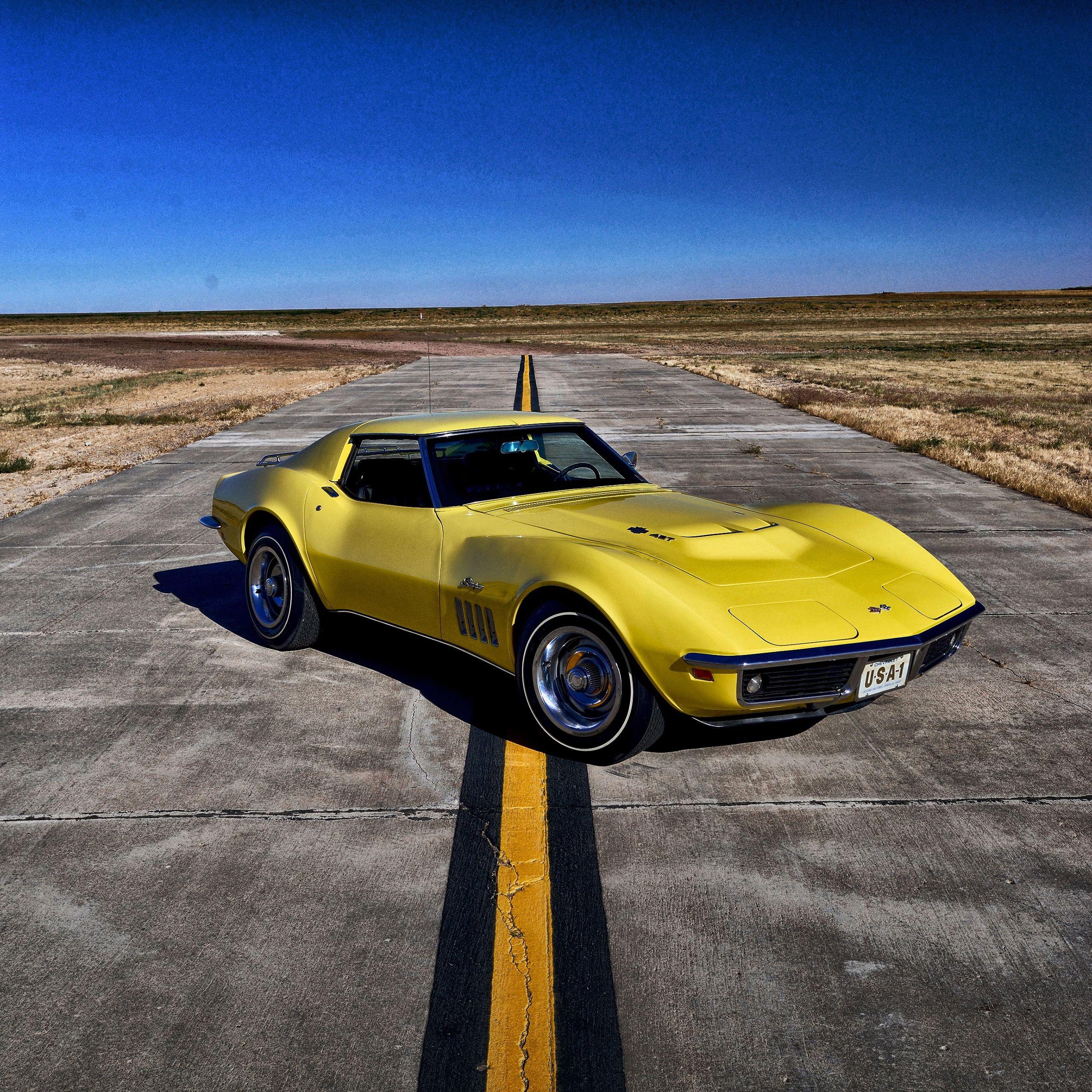134768 téléchargez gratuitement des fonds d'écran Jaune pour votre téléphone, des images Voitures, Chevrolet, Corvette, 1969 Jaune et des économiseurs d'écran pour votre mobile