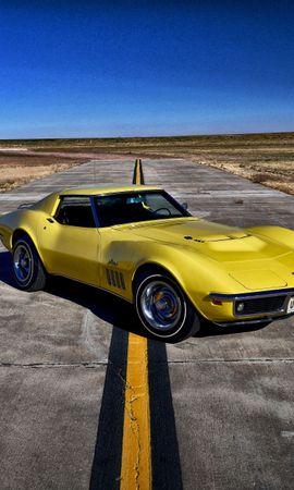 134768 économiseurs d'écran et fonds d'écran Chevrolet sur votre téléphone. Téléchargez Voitures, Chevrolet, Corvette, 1969 images gratuitement