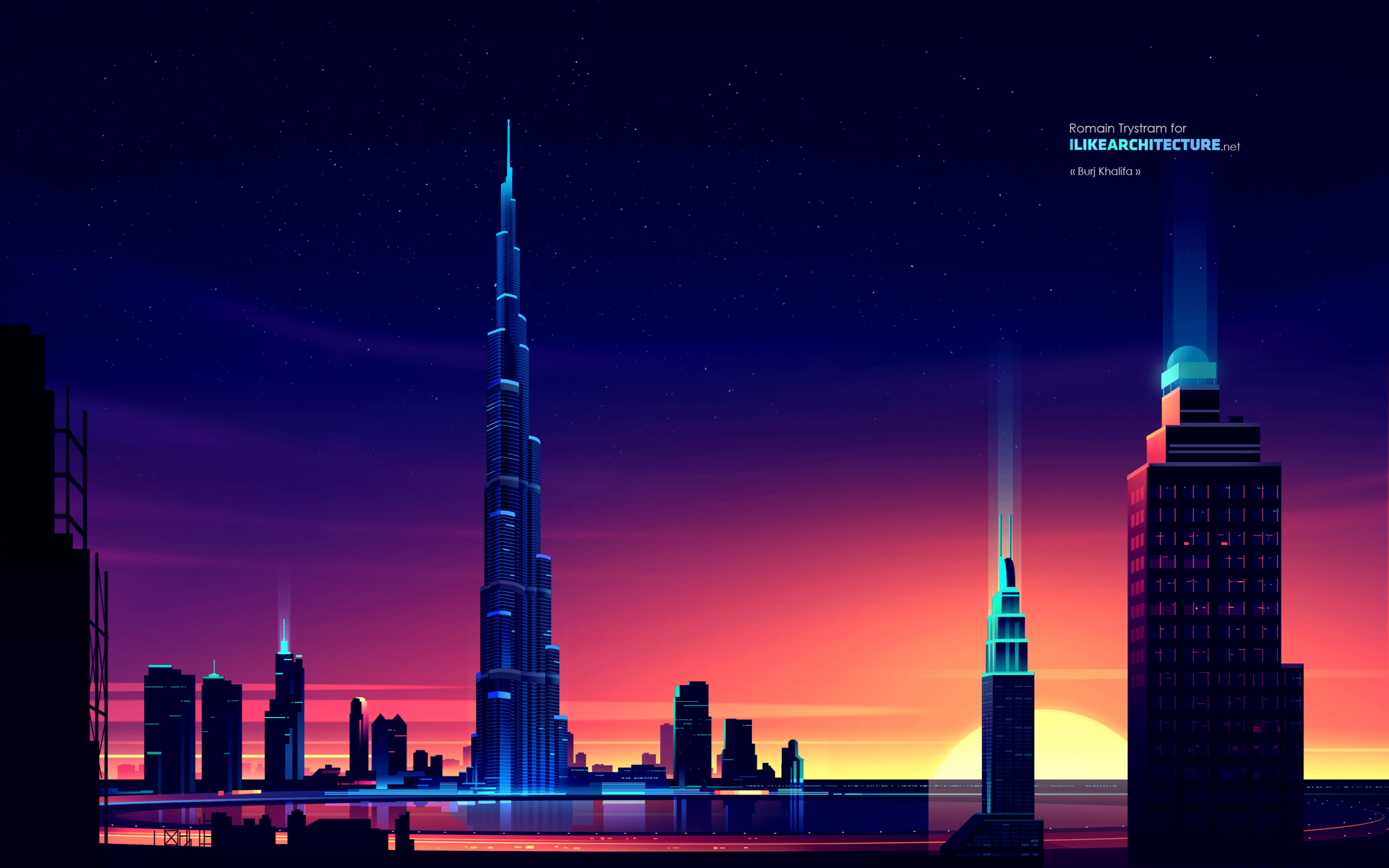 103934 скачать обои Архитектура, Вектор, Арт, Ночь, Город, Небоскреб, Здания - заставки и картинки бесплатно