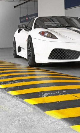 61365 télécharger le fond d'écran Ferrari, Voitures, Vue De Face, Ralentisseur, Policier Menteur - économiseurs d'écran et images gratuitement