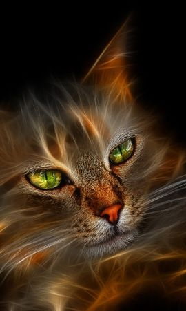 2771 download wallpaper Animals, Cats, Art screensavers and pictures for free