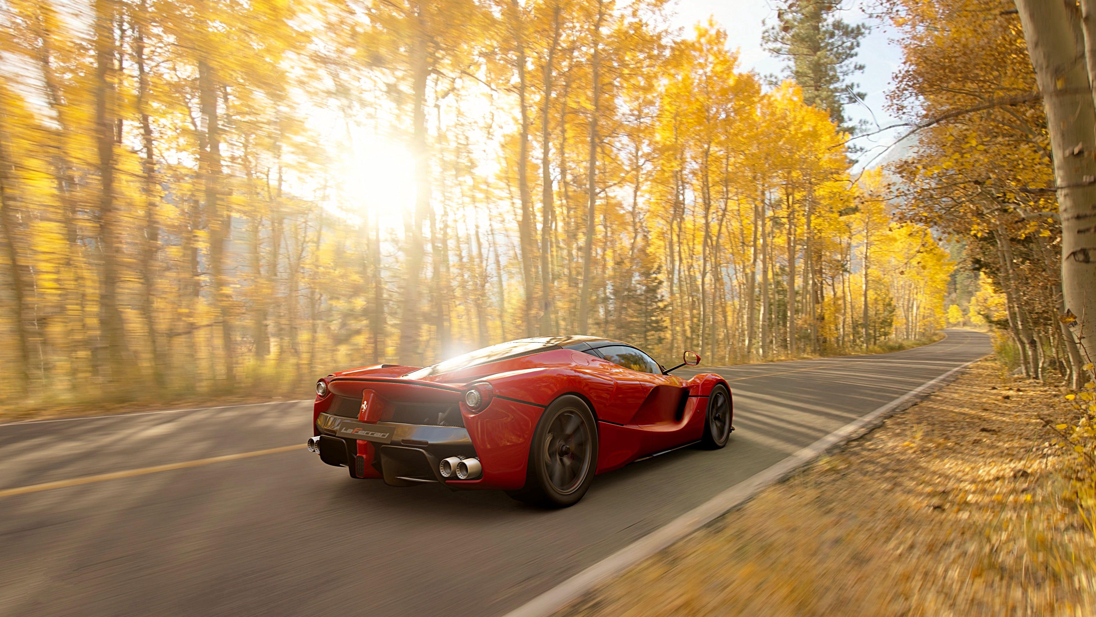 65138 скачать обои Феррари (Ferrari), Тачки (Cars), Дорога, Красный, Машина, Спорткар, Скорость - заставки и картинки бесплатно
