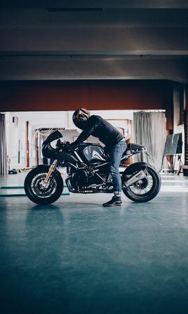 112125 télécharger le fond d'écran Moto, Bmw, Motocyclette, Motocycliste, Bicyclette, Vélo, Type De Collecte - économiseurs d'écran et images gratuitement