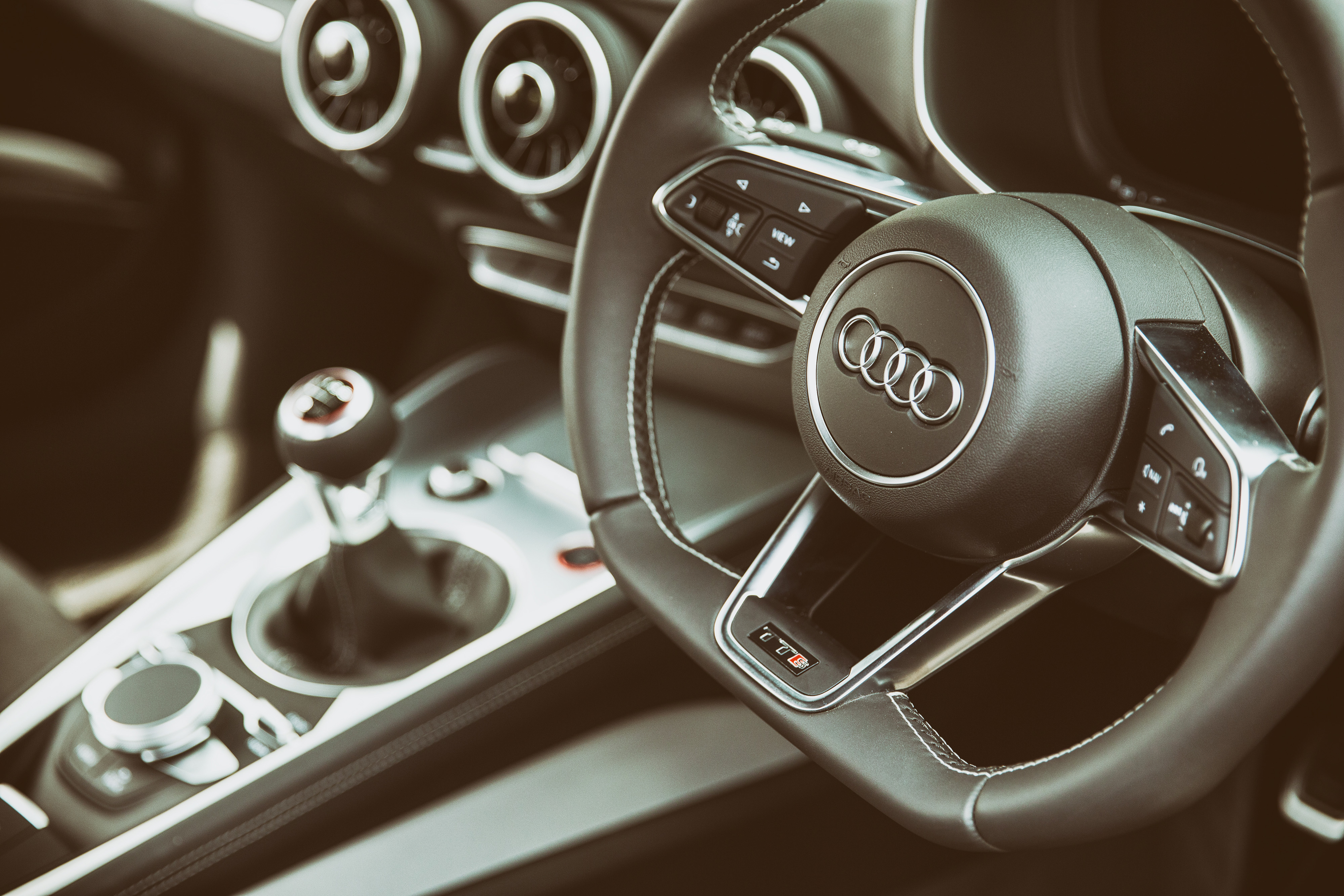 79538 Screensavers and Wallpapers Interior for phone. Download Audi, Interior, Cars, Steering Wheel, Rudder, Tts pictures for free