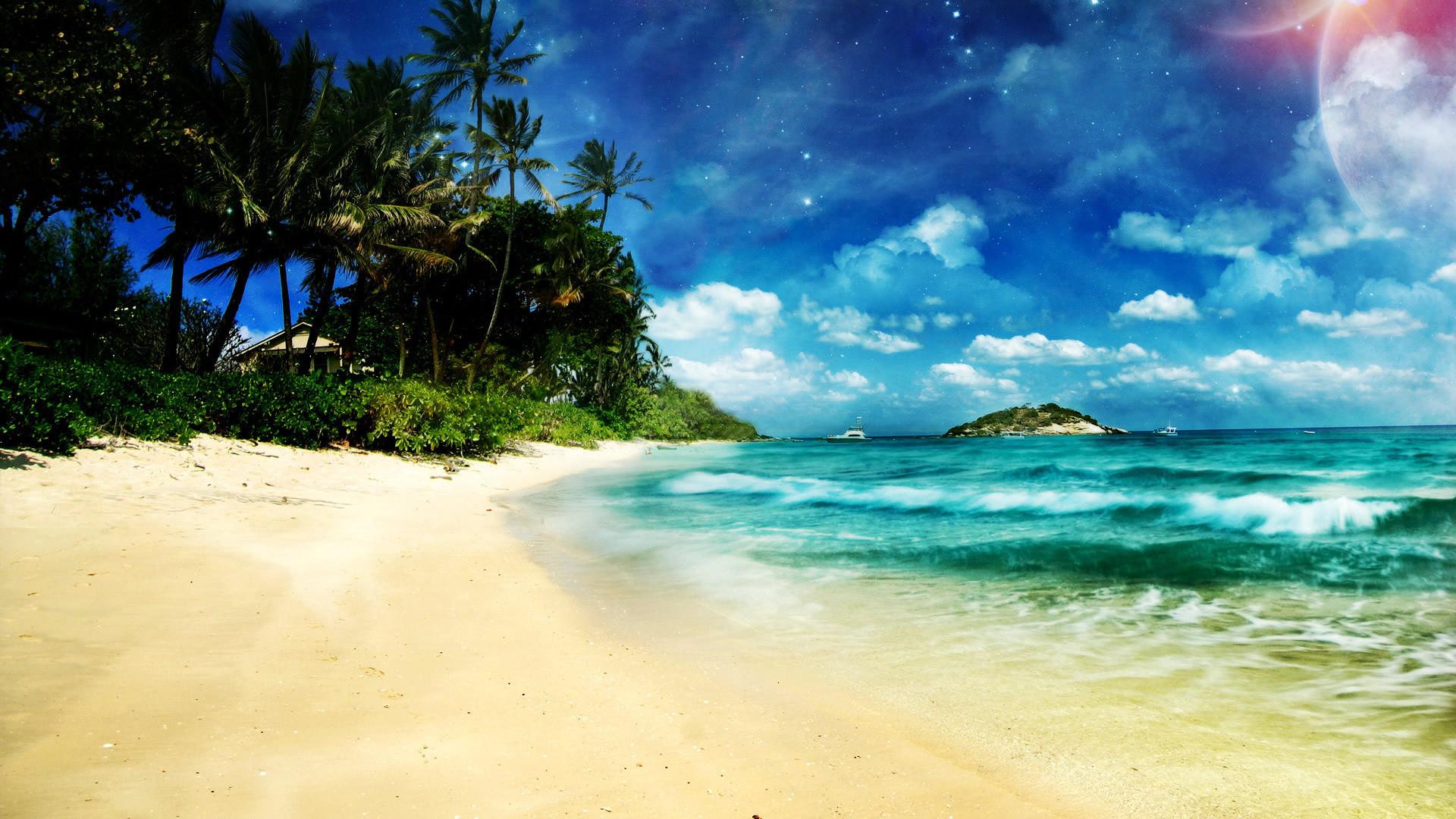 16637 скачать обои Пейзаж, Море, Облака, Пляж - заставки и картинки бесплатно