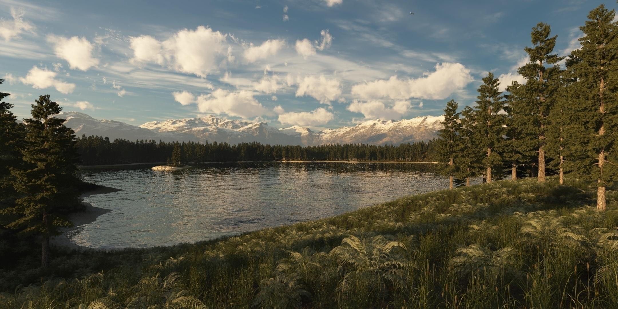102601 Hintergrundbild 240x400 kostenlos auf deinem Handy, lade Bilder Natur, Grass, Sky, See 240x400 auf dein Handy herunter