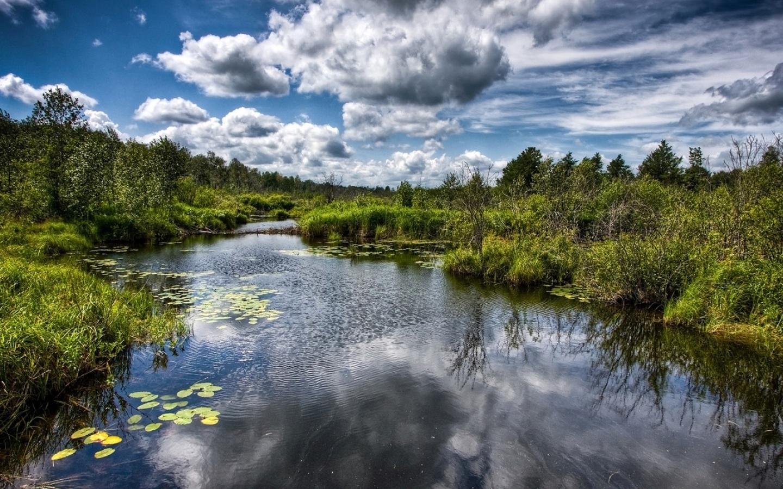 27570 скачать обои Пейзаж, Река, Небо, Облака - заставки и картинки бесплатно