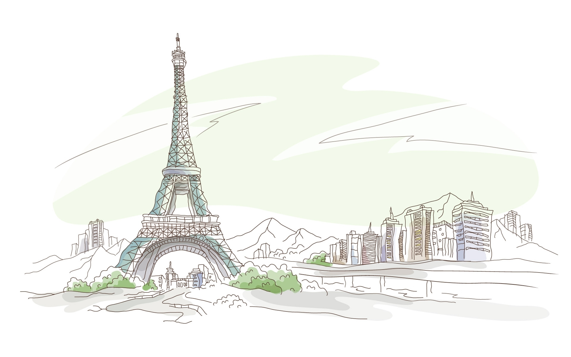 47132 download wallpaper Landscape, Eiffel Tower, Pictures screensavers and pictures for free