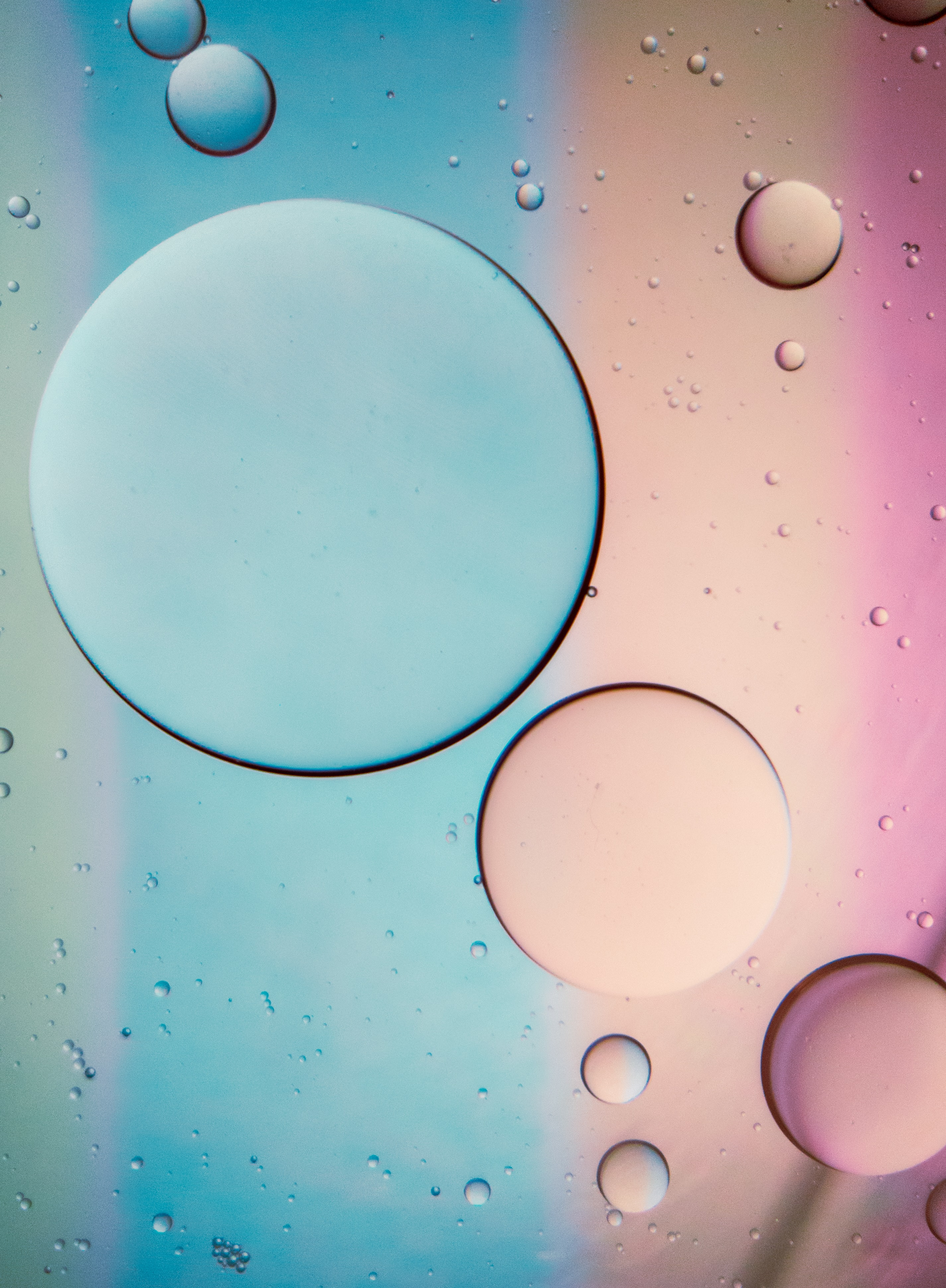 55861 download wallpaper Macro, Butter, Oil, Liquid, Pink, Bubbles screensavers and pictures for free