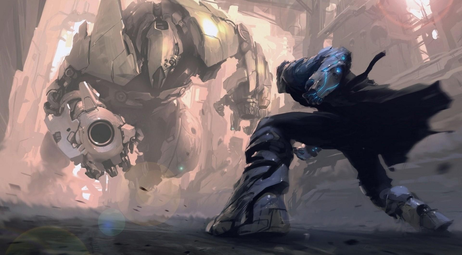 139907 Screensavers and Wallpapers Robots for phone. Download Fantasy, Cyborgs, Iron, Battle, Robots pictures for free