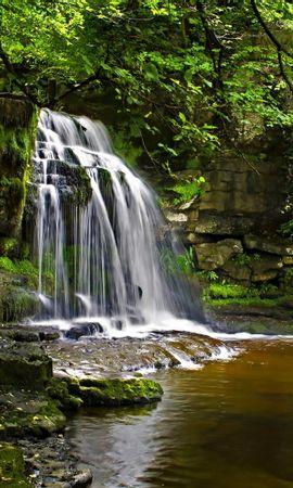 19436 скачать обои Пейзаж, Река, Водопады - заставки и картинки бесплатно