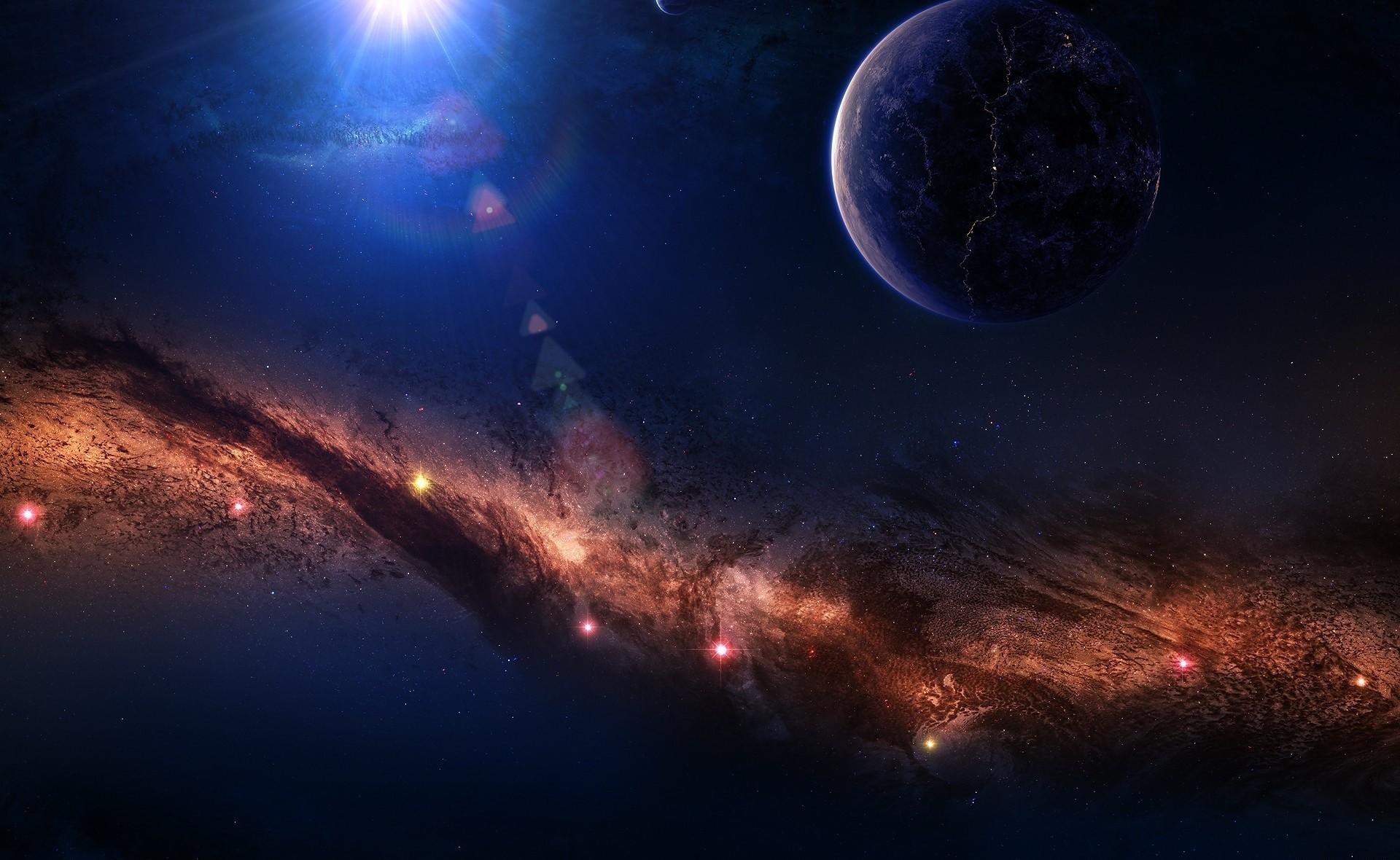 142515 скачать обои Космос, Планеты, Звезды, Свет, Туманность - заставки и картинки бесплатно