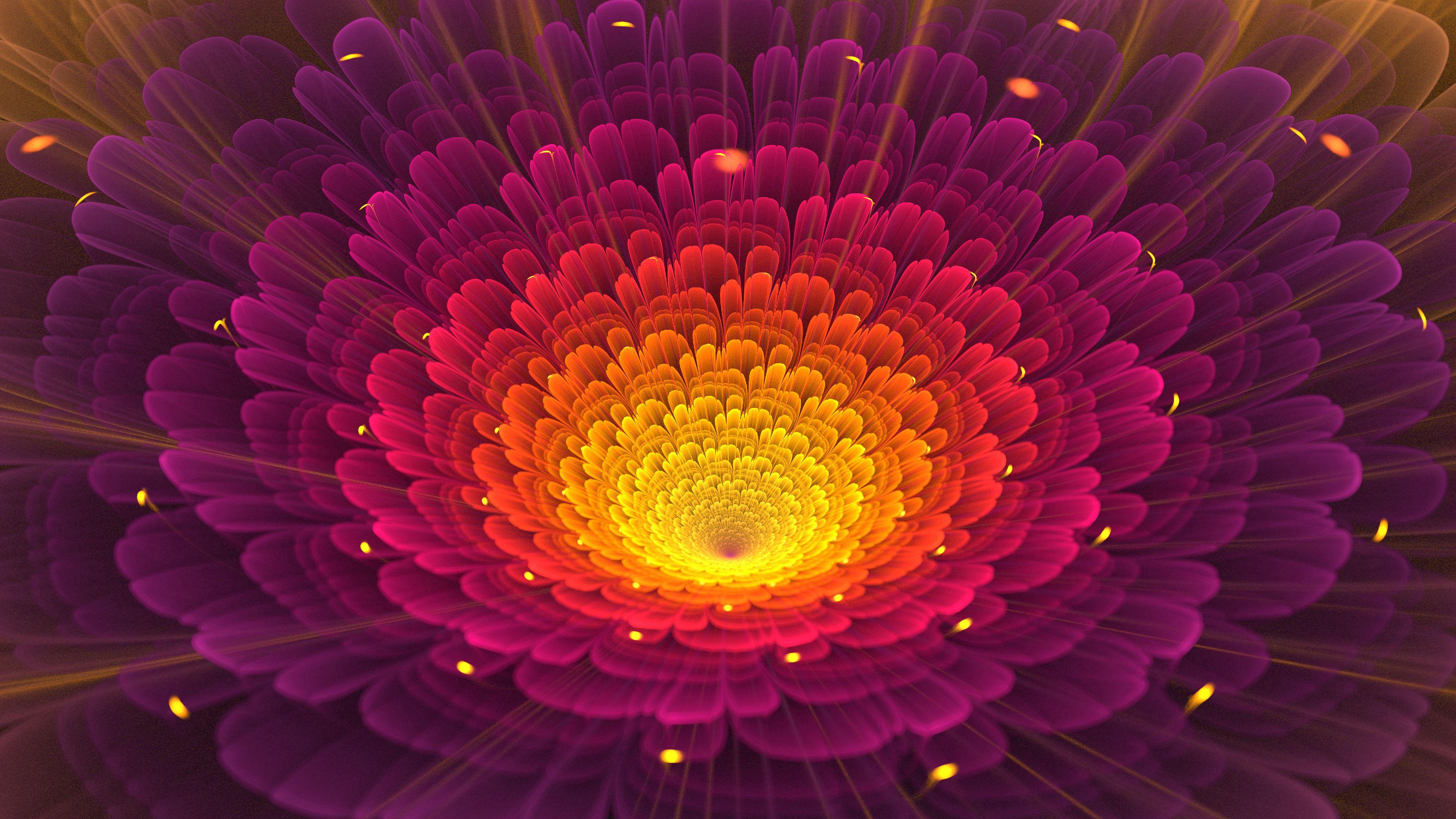 98156 免費下載壁紙 抽象, 分形, 花, 花卉, 辉光, 发光, 明亮的, 明亮 屏保和圖片
