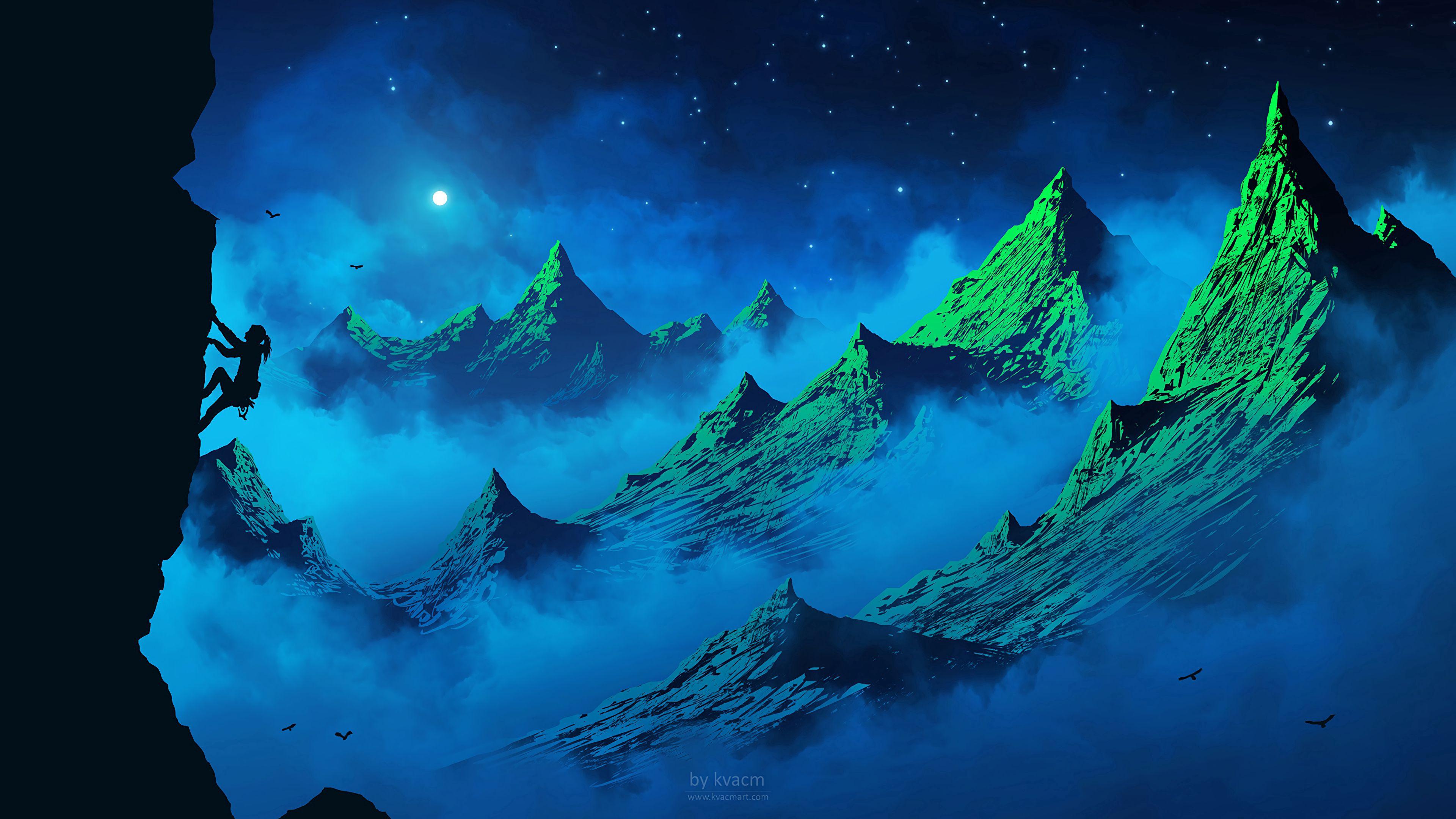 55453 Protetores de tela e papéis de parede Lua em seu telefone. Baixe Lua, Aves, Arte, Montanhas, Noite, Silhueta, Névoa, Nevoeiro, Menina, Garota, Alpinista, Alpinist fotos gratuitamente