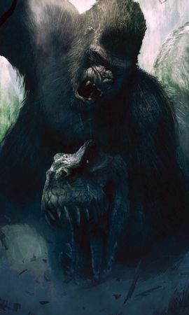 6660 download wallpaper Cinema, Animals, Dinosaurs, King Kong screensavers and pictures for free