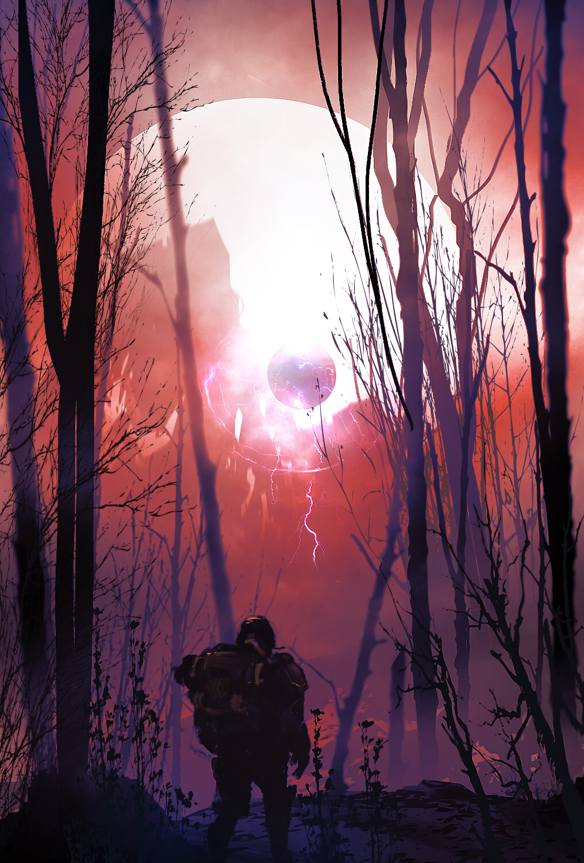 61668 Screensavers and Wallpapers Fiction for phone. Download Art, Silhouette, Sci-Fi, Fiction, That's Incredible, Soldier pictures for free