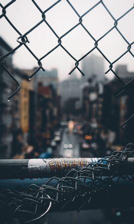 127052 Protetores de tela e papéis de parede Miscelânea em seu telefone. Baixe Miscelânea, Variado, Cerca, Rede, Grade, Buraco, Chuva, Cidade, Embaçamento, Liso fotos gratuitamente