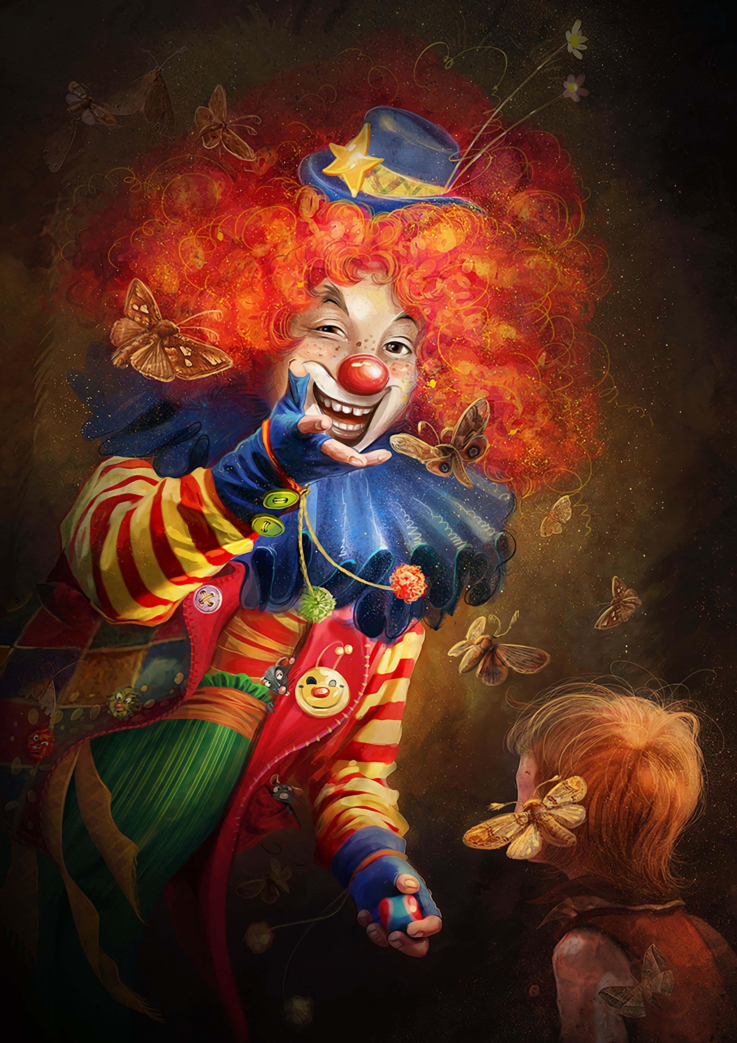 75638 Screensavers and Wallpapers Smile for phone. Download Art, Smile, Emotions, Makeup, Circus, Clown pictures for free