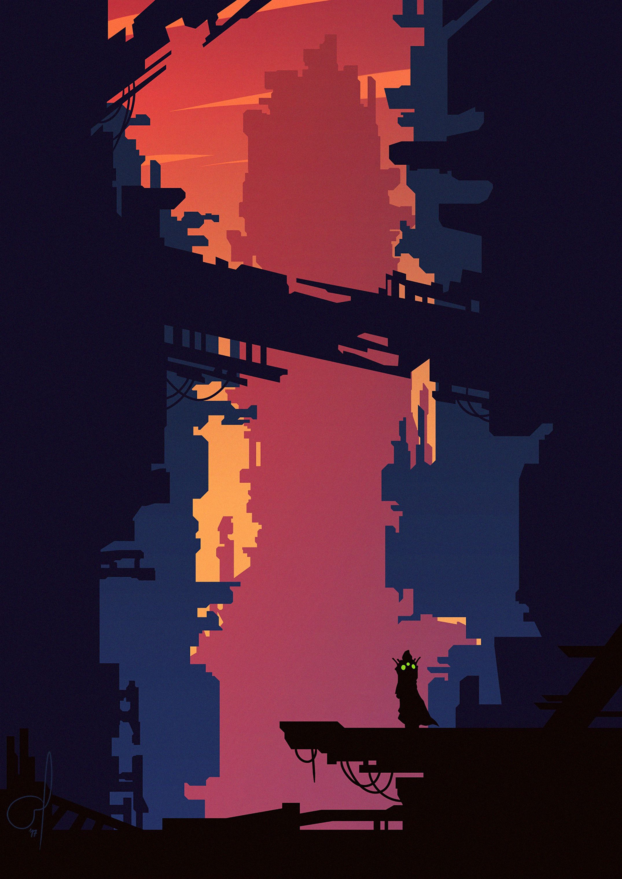 140952 download wallpaper Vector, City, Silhouette, Art, Building screensavers and pictures for free