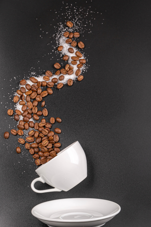 65664 Заставки и Обои Еда на телефон. Скачать Чашка, Кофе, Еда, Кофейные Зерна, Сахар картинки бесплатно