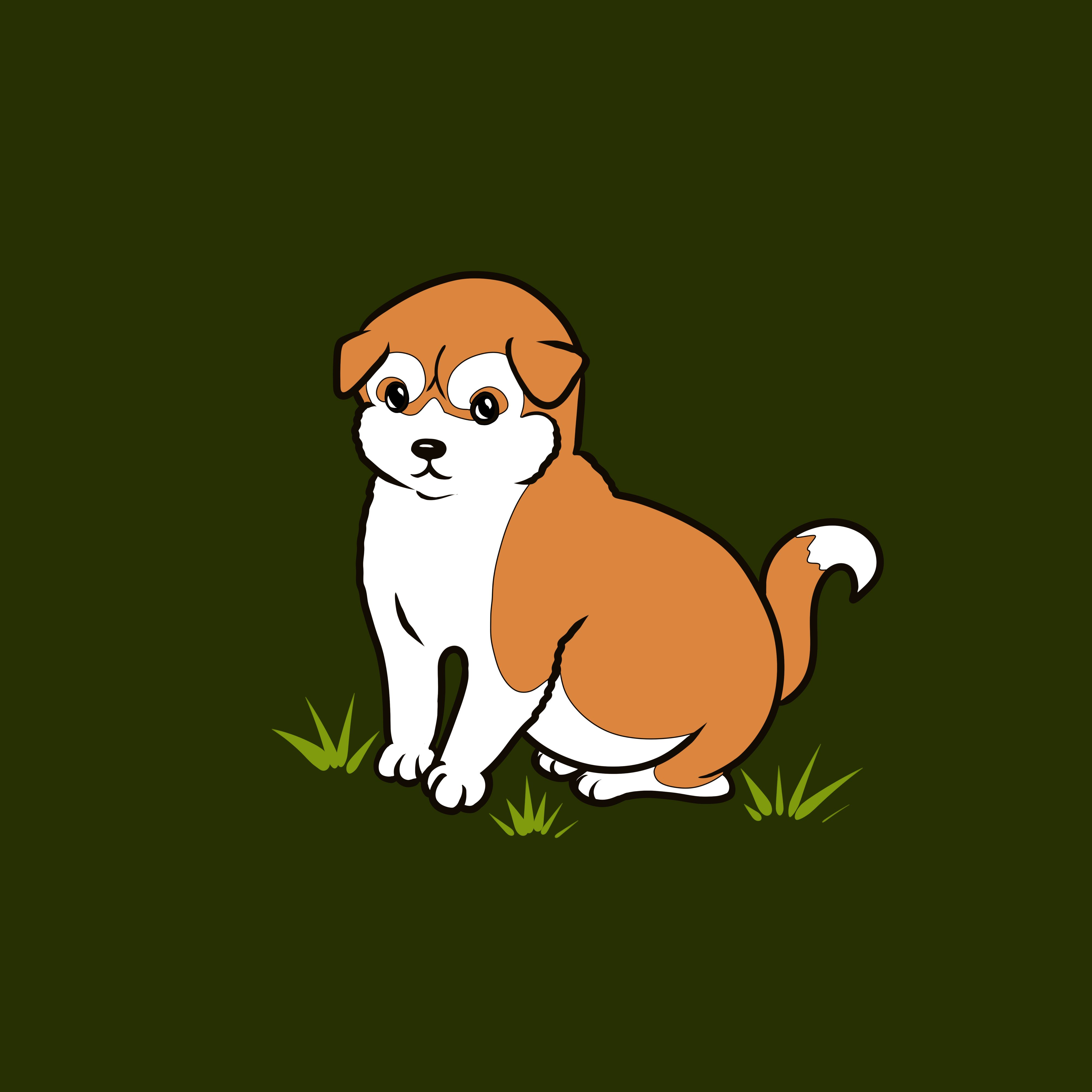 135993 download wallpaper Dog, Akita Inu, Art, Nice, Sweetheart, Minimalism screensavers and pictures for free