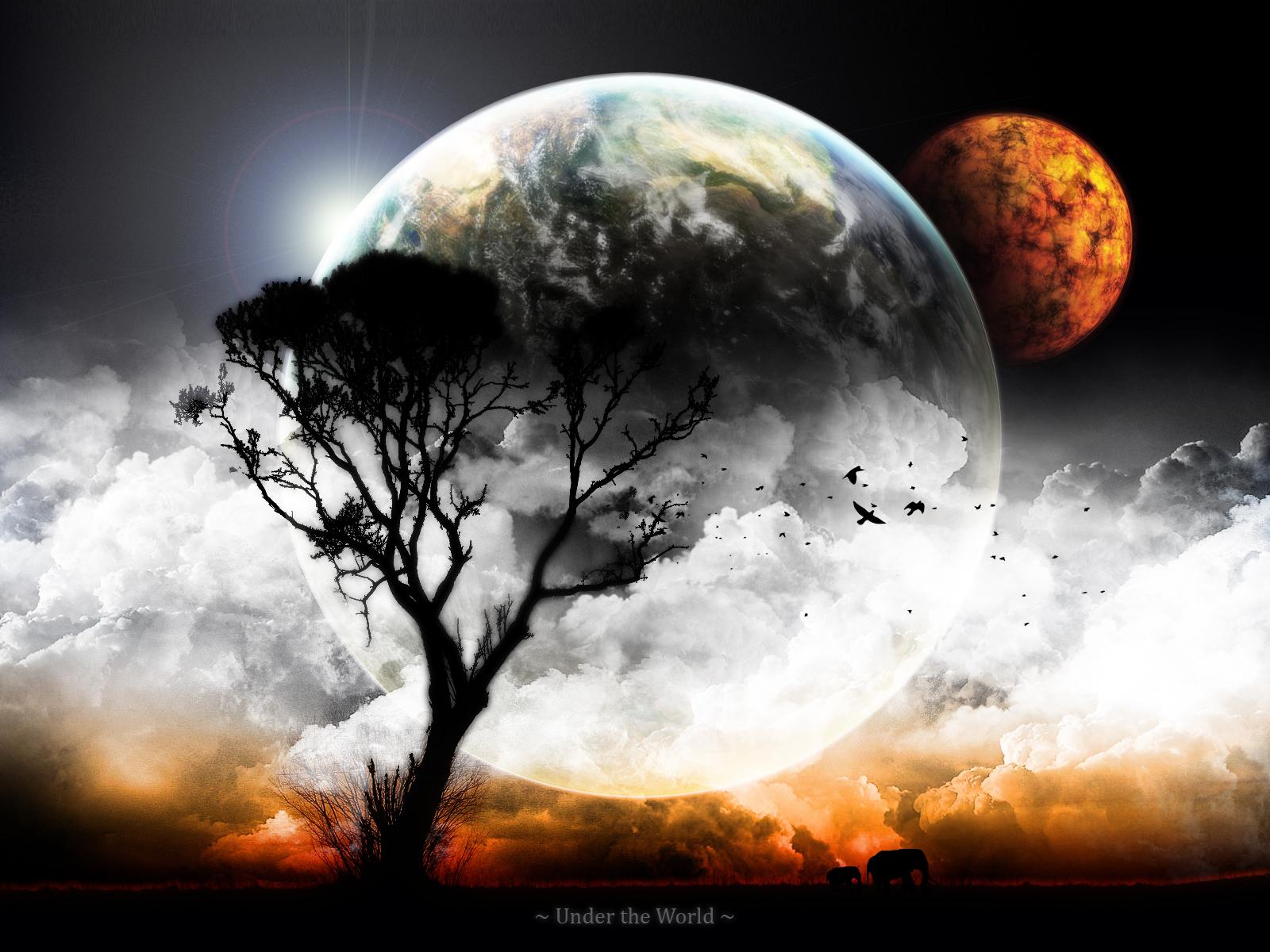 10881 скачать обои Пейзаж, Небо, Планеты, Облака - заставки и картинки бесплатно