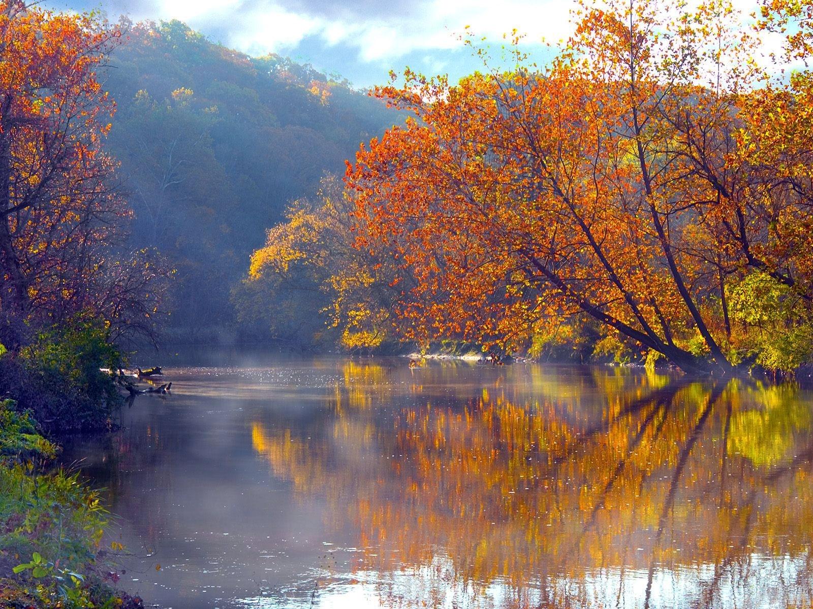9986 скачать обои Пейзаж, Вода, Деревья, Осень, Озера - заставки и картинки бесплатно