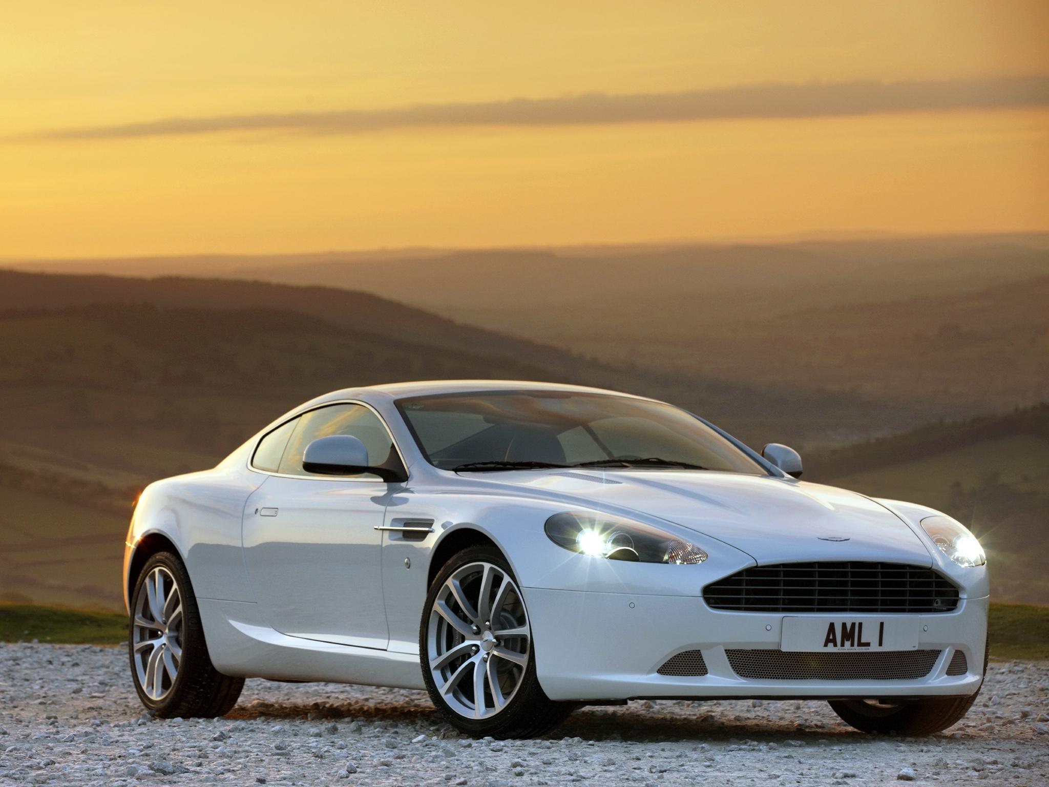 122833 скачать обои Спорт, Машины, Природа, Закат, Астон Мартин (Aston Martin), Тачки (Cars), Белый, Вид Сбоку, Стиль, Db9, 2010 - заставки и картинки бесплатно