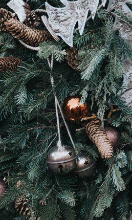 69429 télécharger le fond d'écran Fêtes, Noël, Nouvel An, Décorations De Noël, Cônes - économiseurs d'écran et images gratuitement