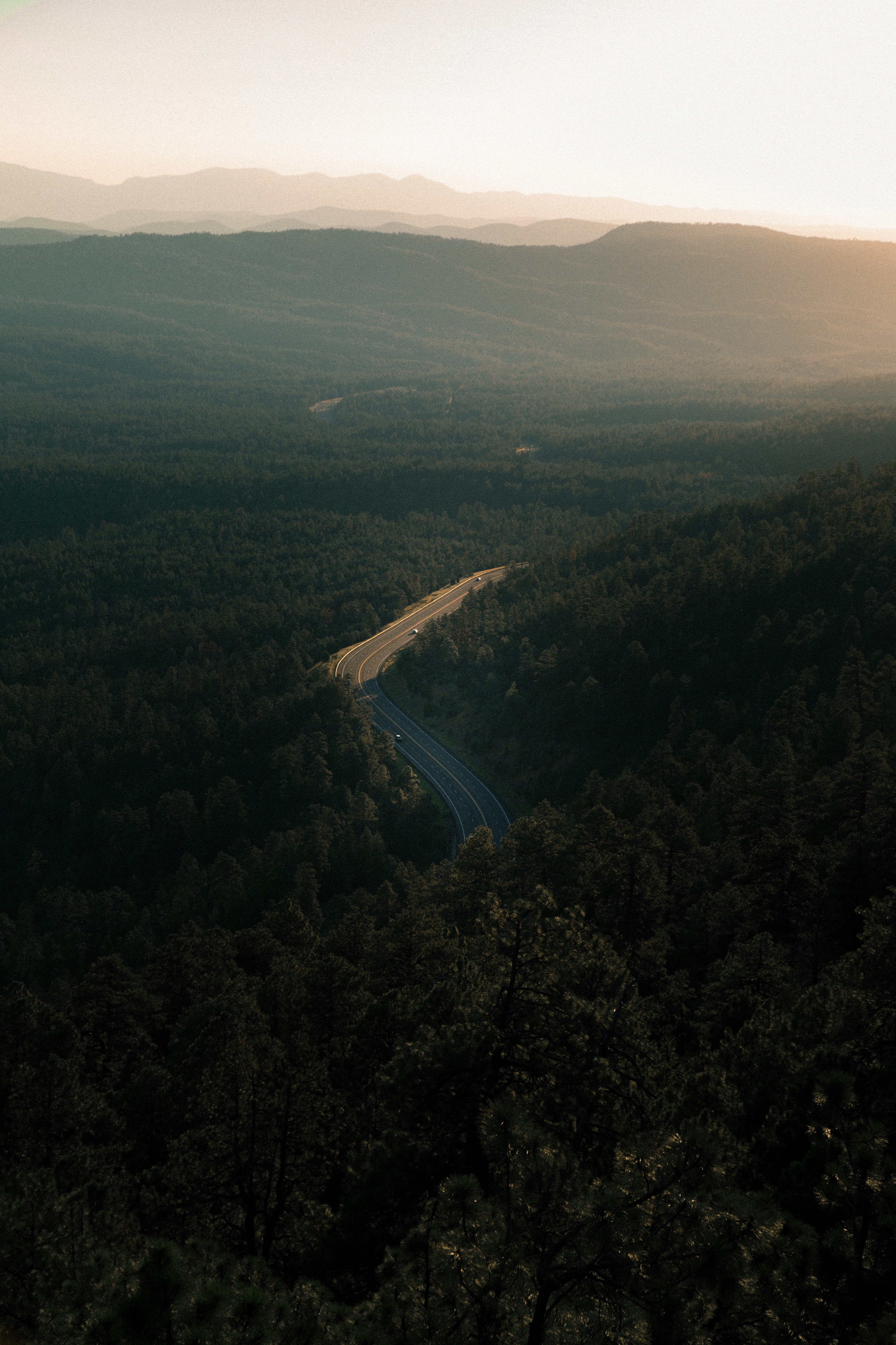 149469 free wallpaper 480x800 for phone, download images Nature, Trees, View From Above, Road, Forest, Height 480x800 for mobile
