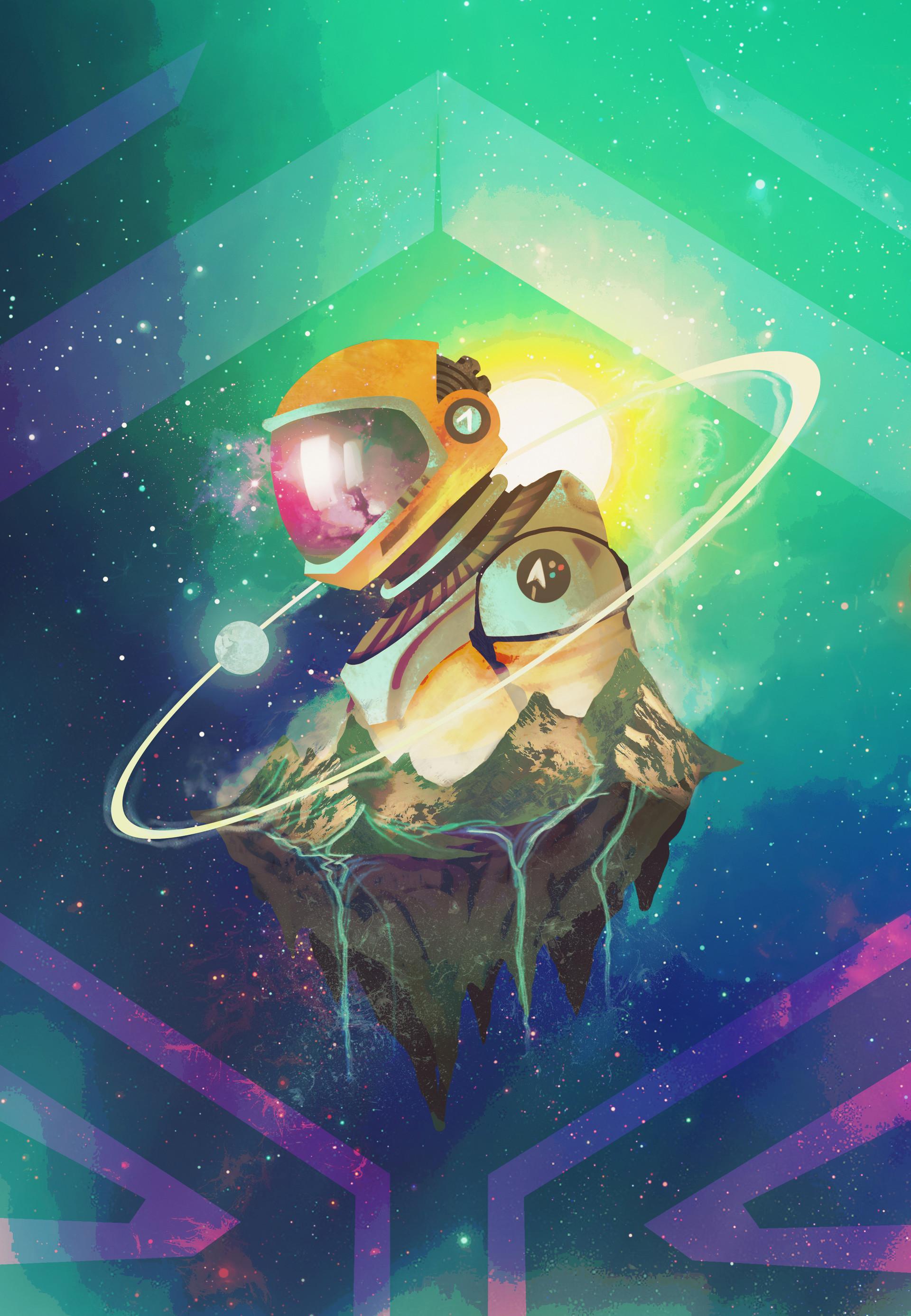 67318 Hintergrundbild 480x800 kostenlos auf deinem Handy, lade Bilder Kunst, Universum, Sterne, Kosmonaut, Kosmonauten, Astronaut 480x800 auf dein Handy herunter