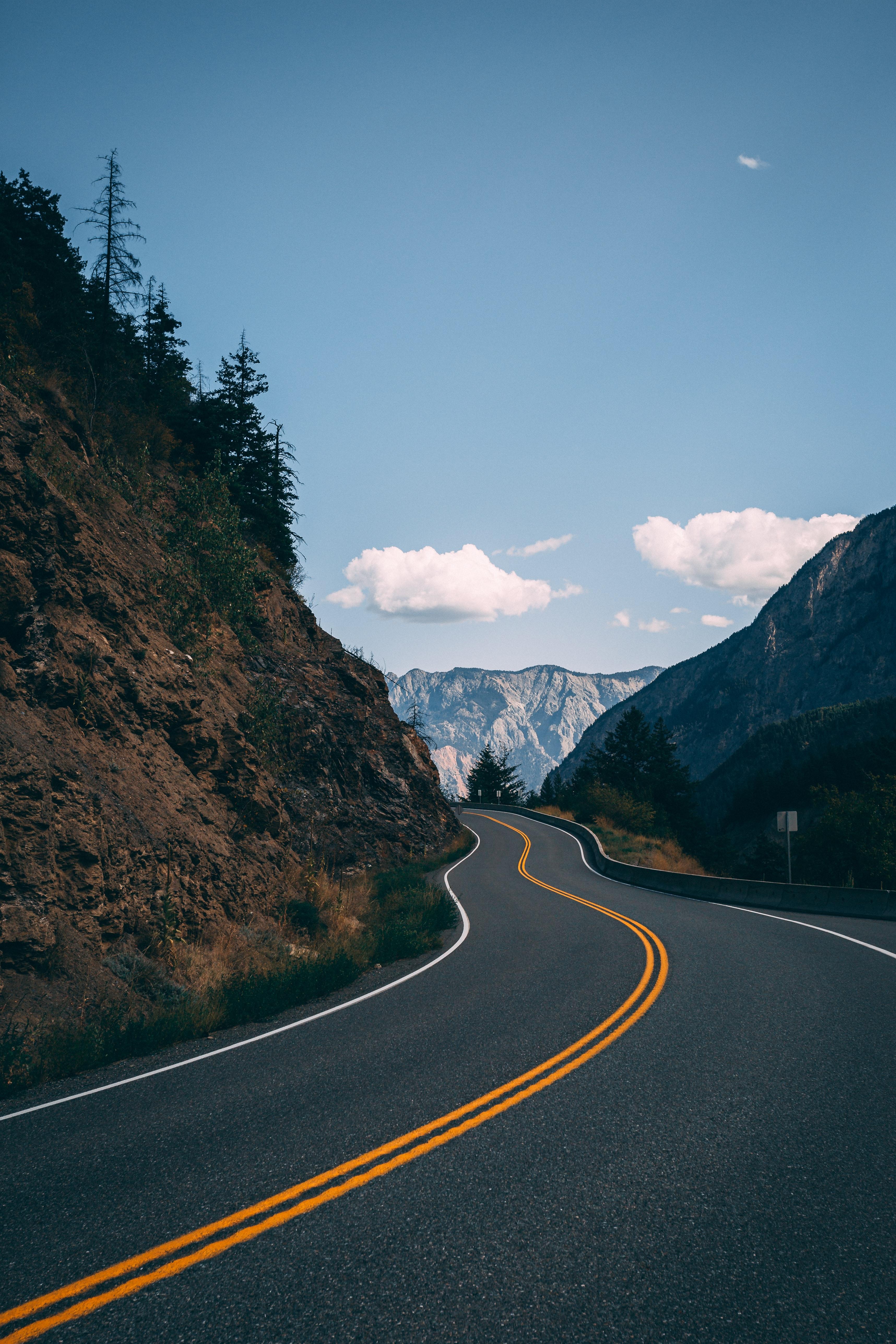 67479 Заставки и Обои Пейзаж на телефон. Скачать Пейзаж, Природа, Горы, Дорога, Асфальт картинки бесплатно
