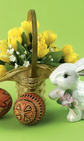 614 descargar fondo de pantalla Vacaciones, Plantas, Flores, Huevos, Pascua: protectores de pantalla e imágenes gratis