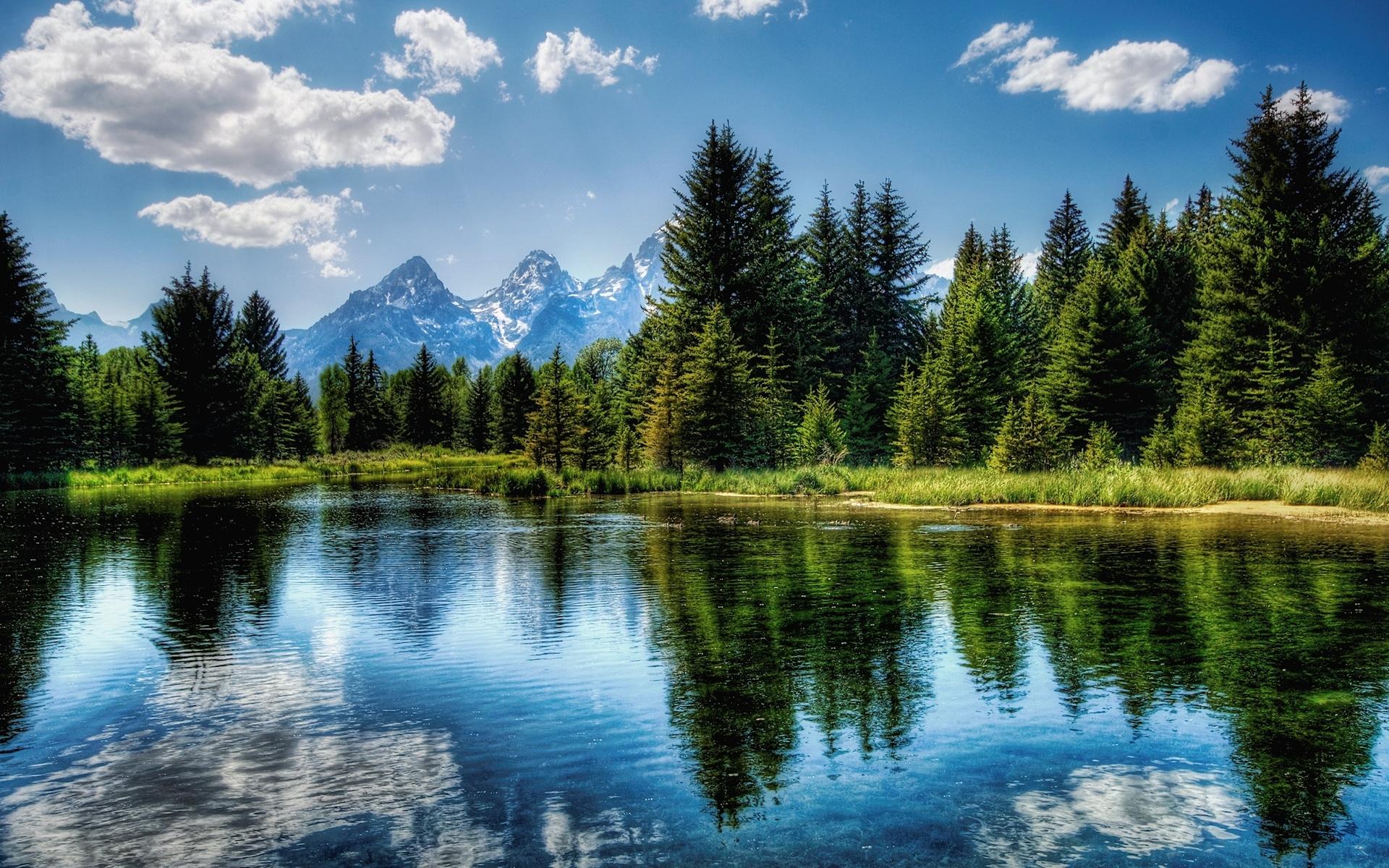29749 скачать обои Пейзаж, Река, Горы - заставки и картинки бесплатно