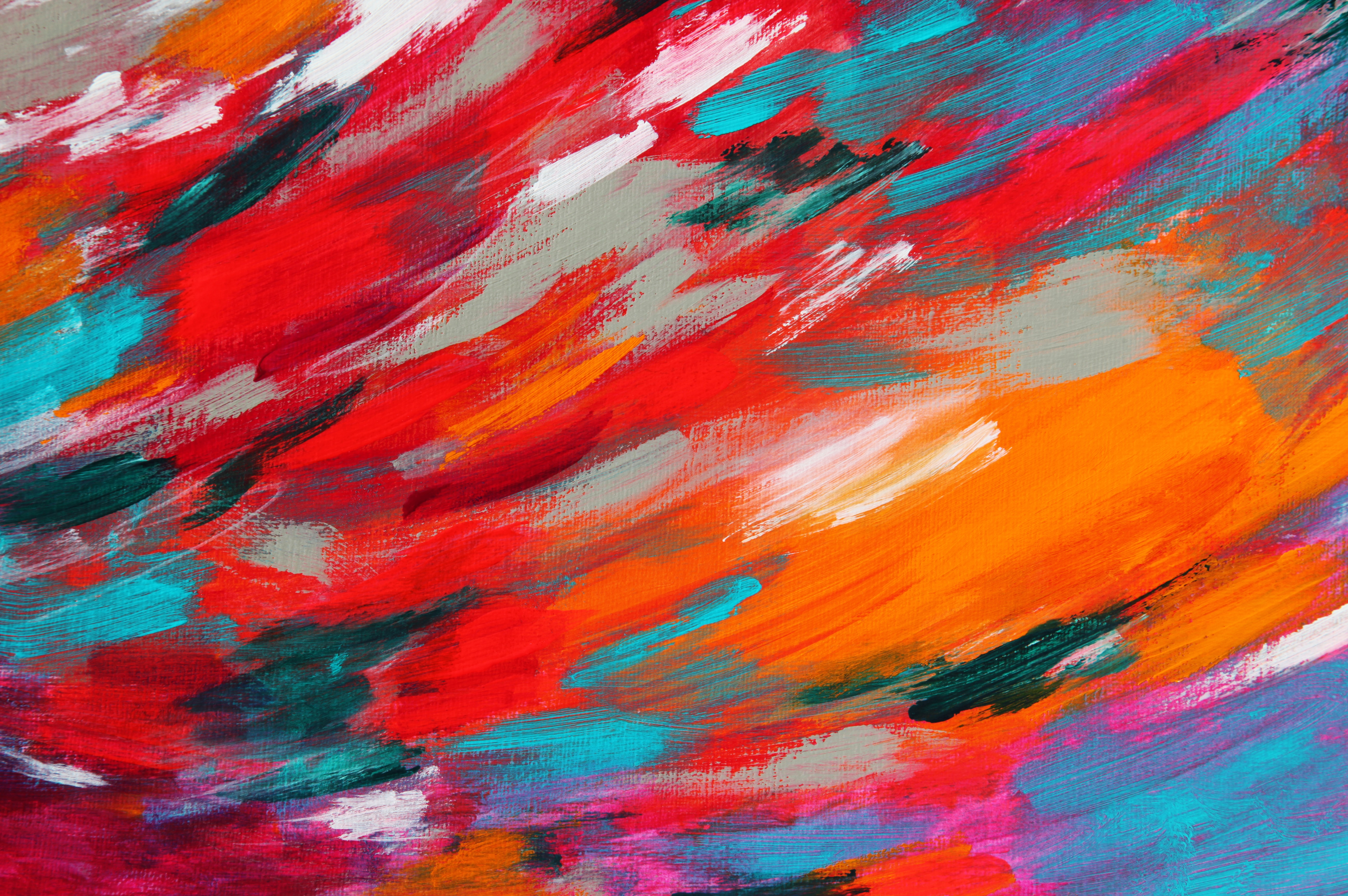 122017 download wallpaper Textures, Texture, Paint, Strokes, Multicolored, Motley, Abstract screensavers and pictures for free