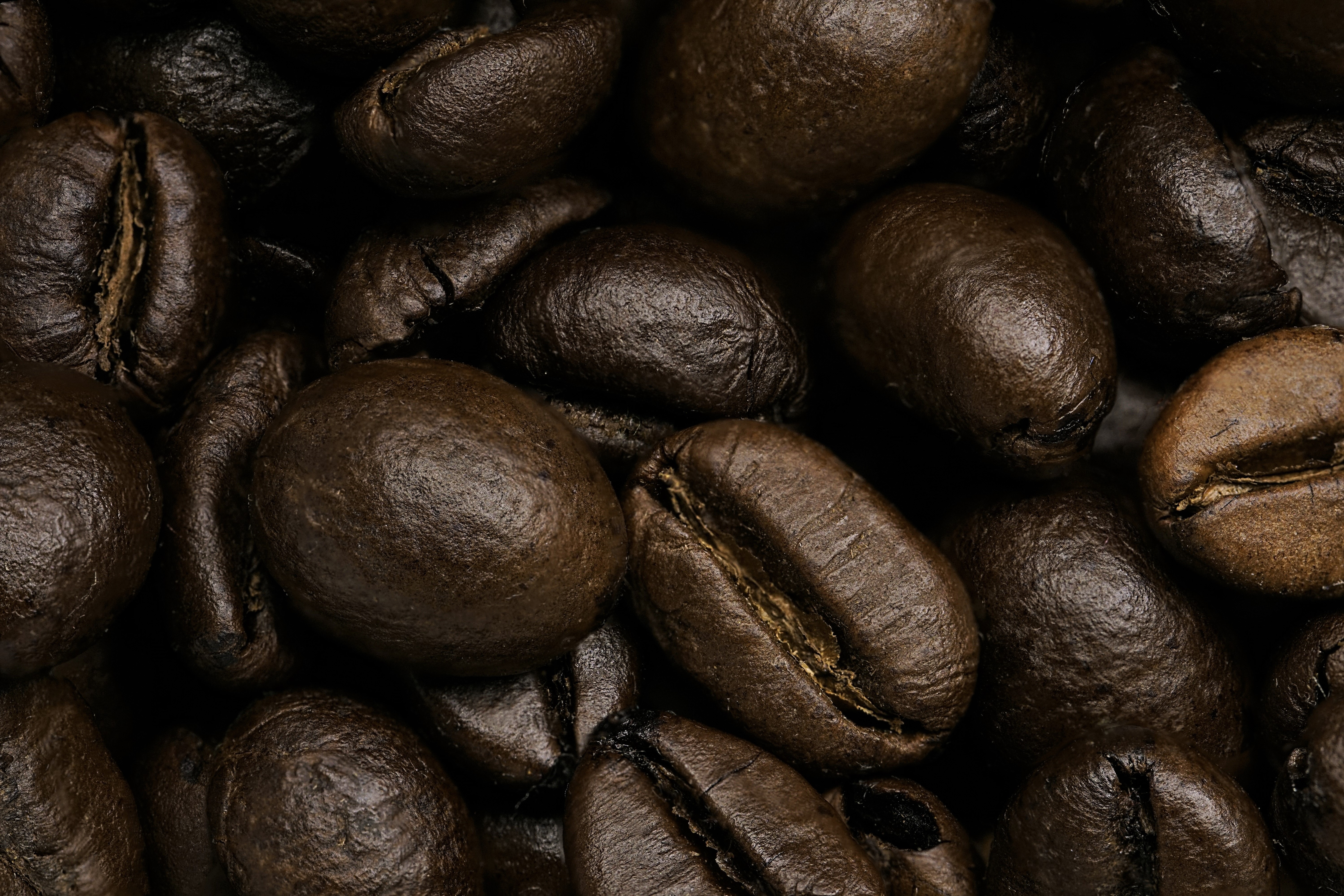 61521 download wallpaper Coffee, Macro, Close-Up, Coffee Beans screensavers and pictures for free