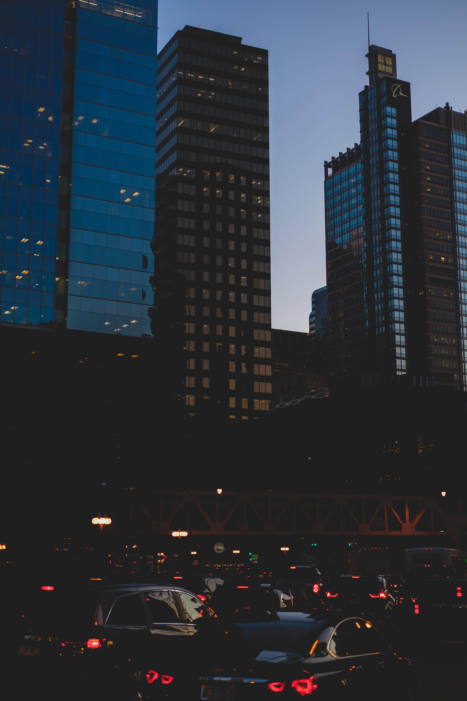 82072 скачать обои Город, Вечер, Фары, Города, Машины - заставки и картинки бесплатно