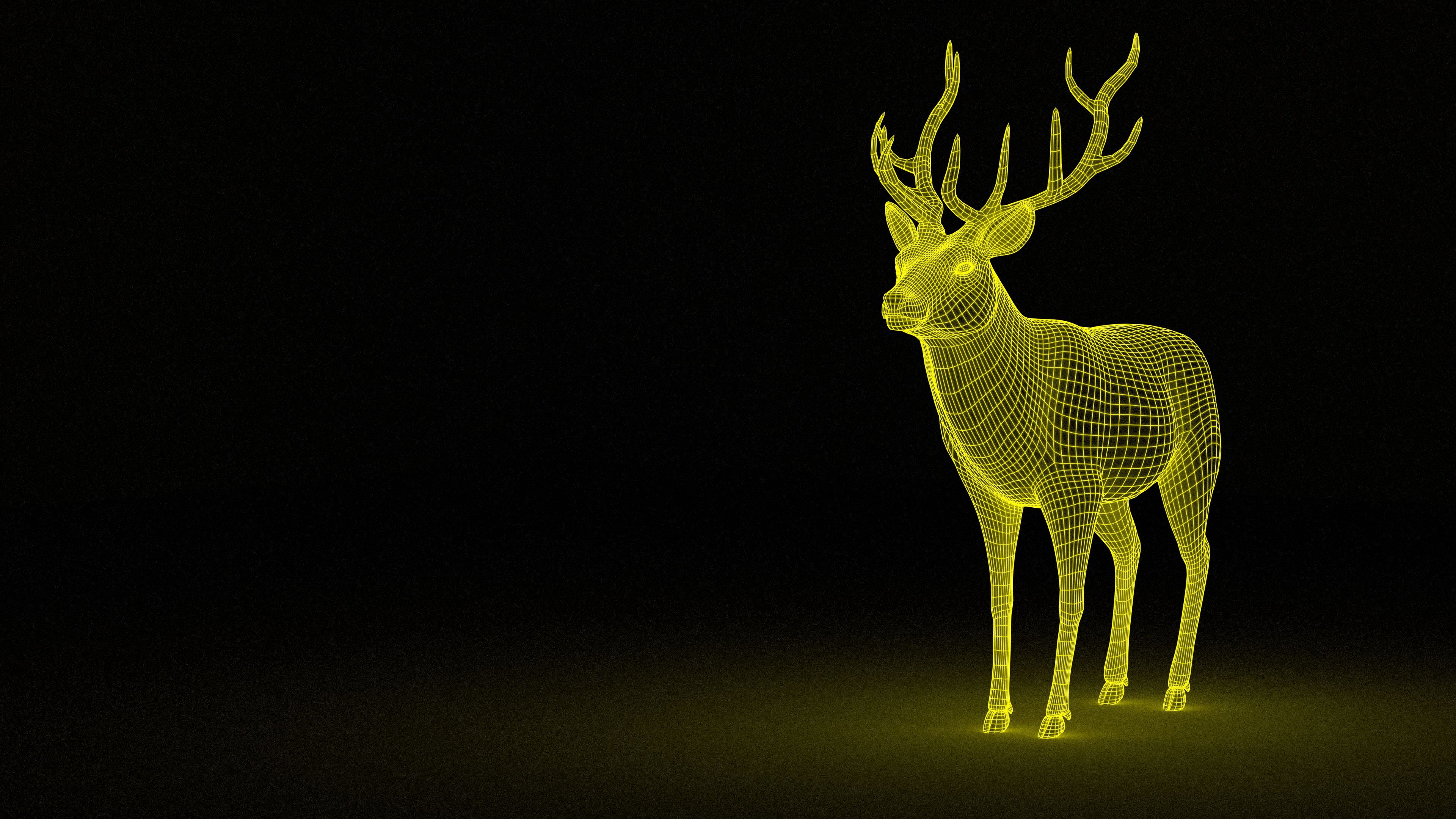 110893 download wallpaper Abstract, Deer, Backlight, Illumination, Grid screensavers and pictures for free