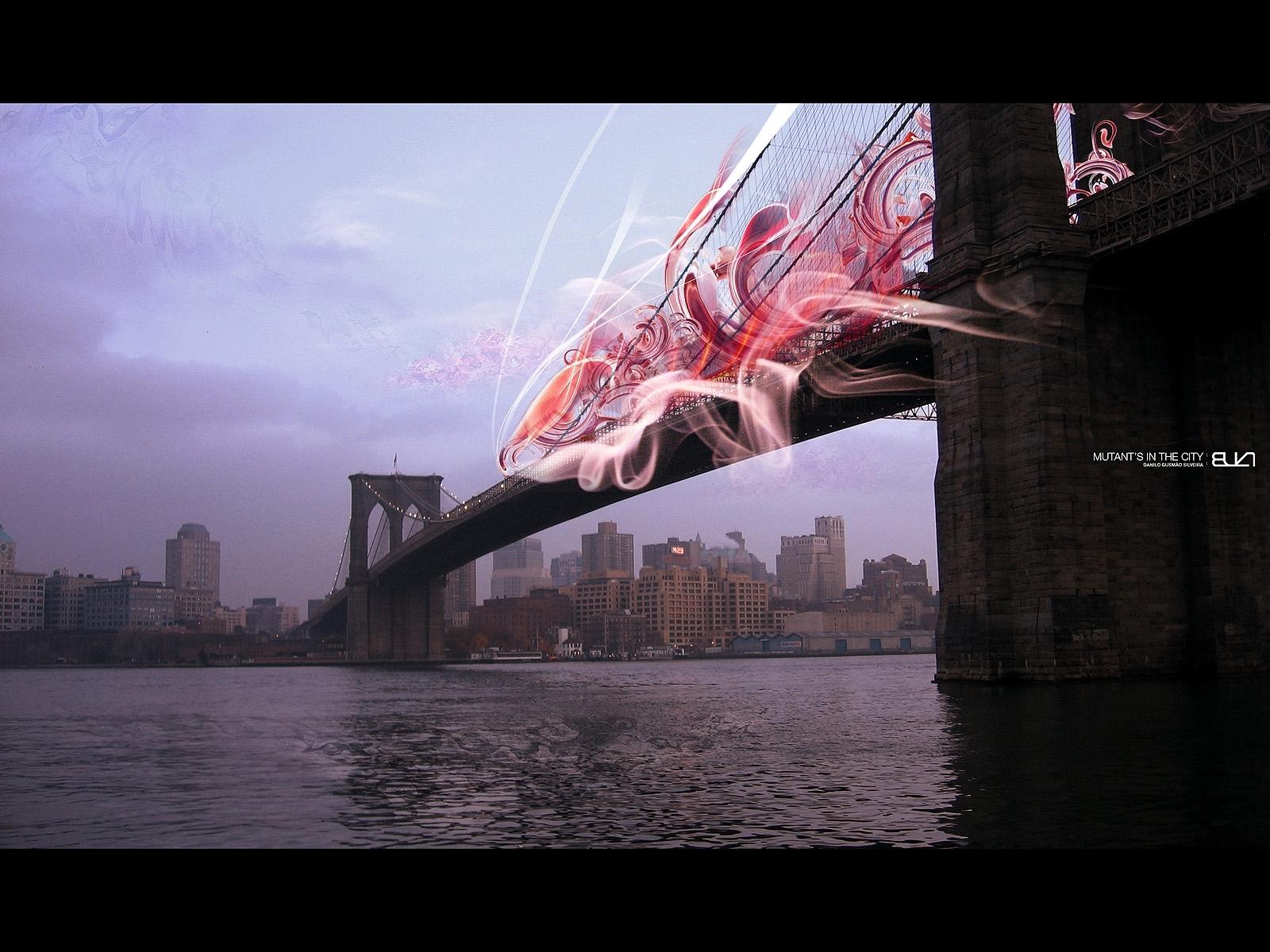 3986 скачать обои Пейзаж, Река, Мосты - заставки и картинки бесплатно