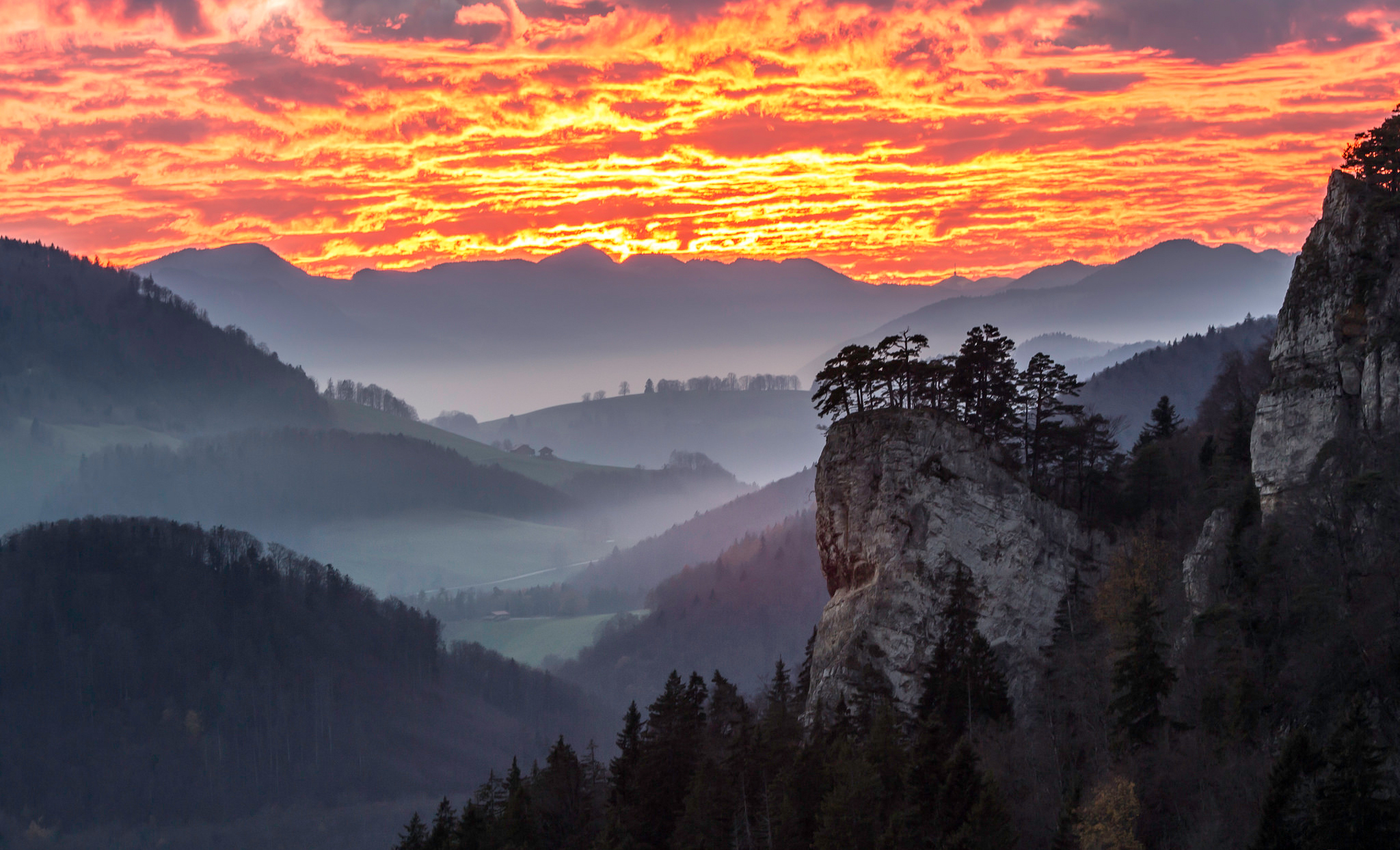145235 free wallpaper 480x800 for phone, download images Nature, Sky, Mountains, Clouds, Dawn, Fog 480x800 for mobile