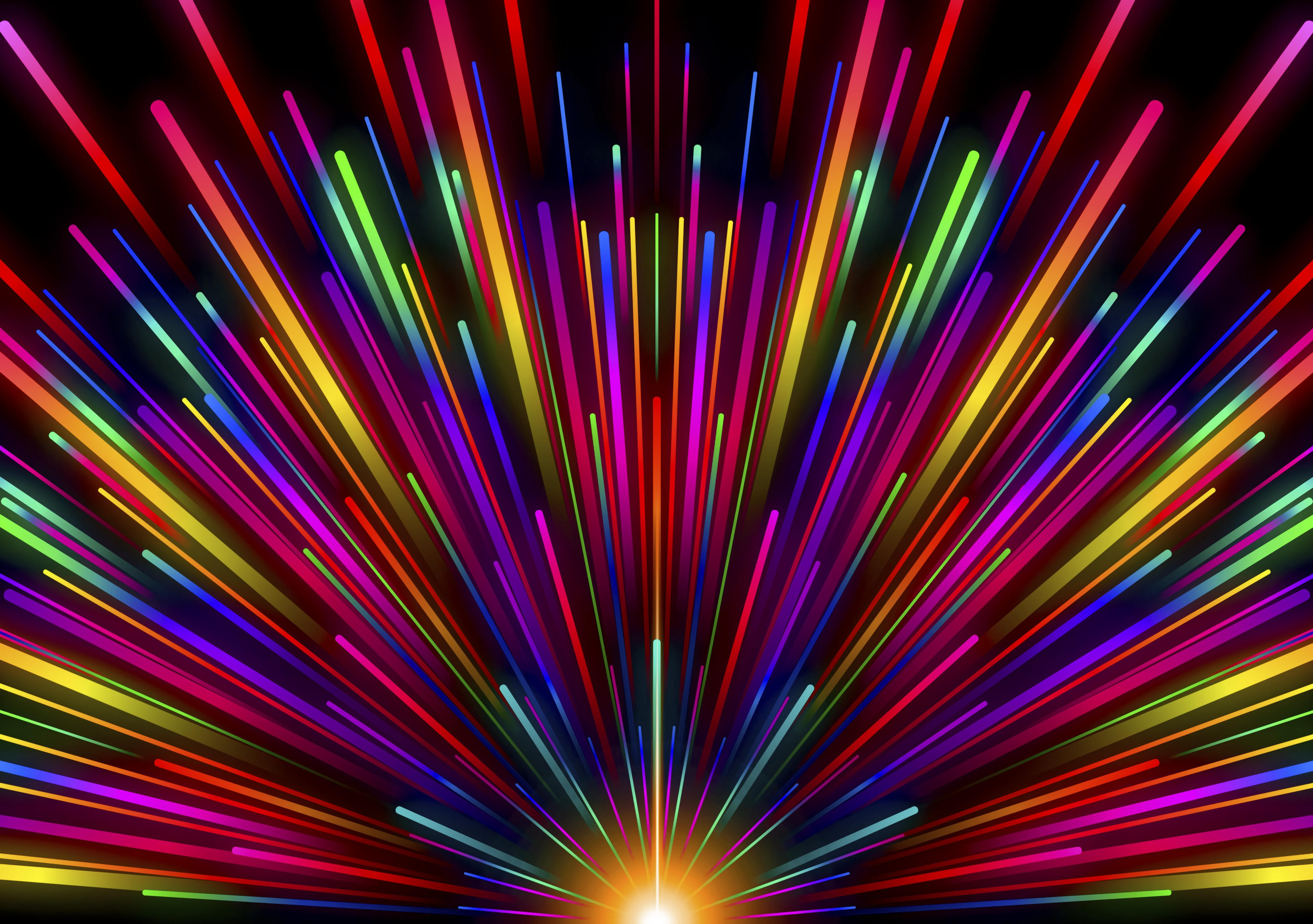 135866 download wallpaper Abstract, Rainbow, Beams, Rays, Multicolored, Motley, Stripes, Streaks, Glow screensavers and pictures for free