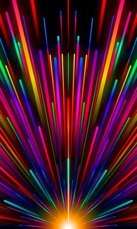 135866 télécharger le fond d'écran Abstrait, Poutres, Rayons, Rayures, Stries, Multicolore, Hétéroclite, Briller, Lueur, Arc En Ciel - économiseurs d'écran et images gratuitement