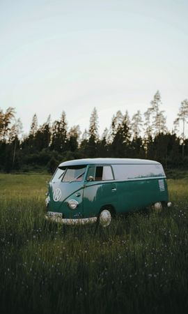 116375 Screensavers and Wallpapers Volkswagen for phone. Download Cars, Volkswagen T1, Volkswagen, Car, Machine, Field, Grass pictures for free