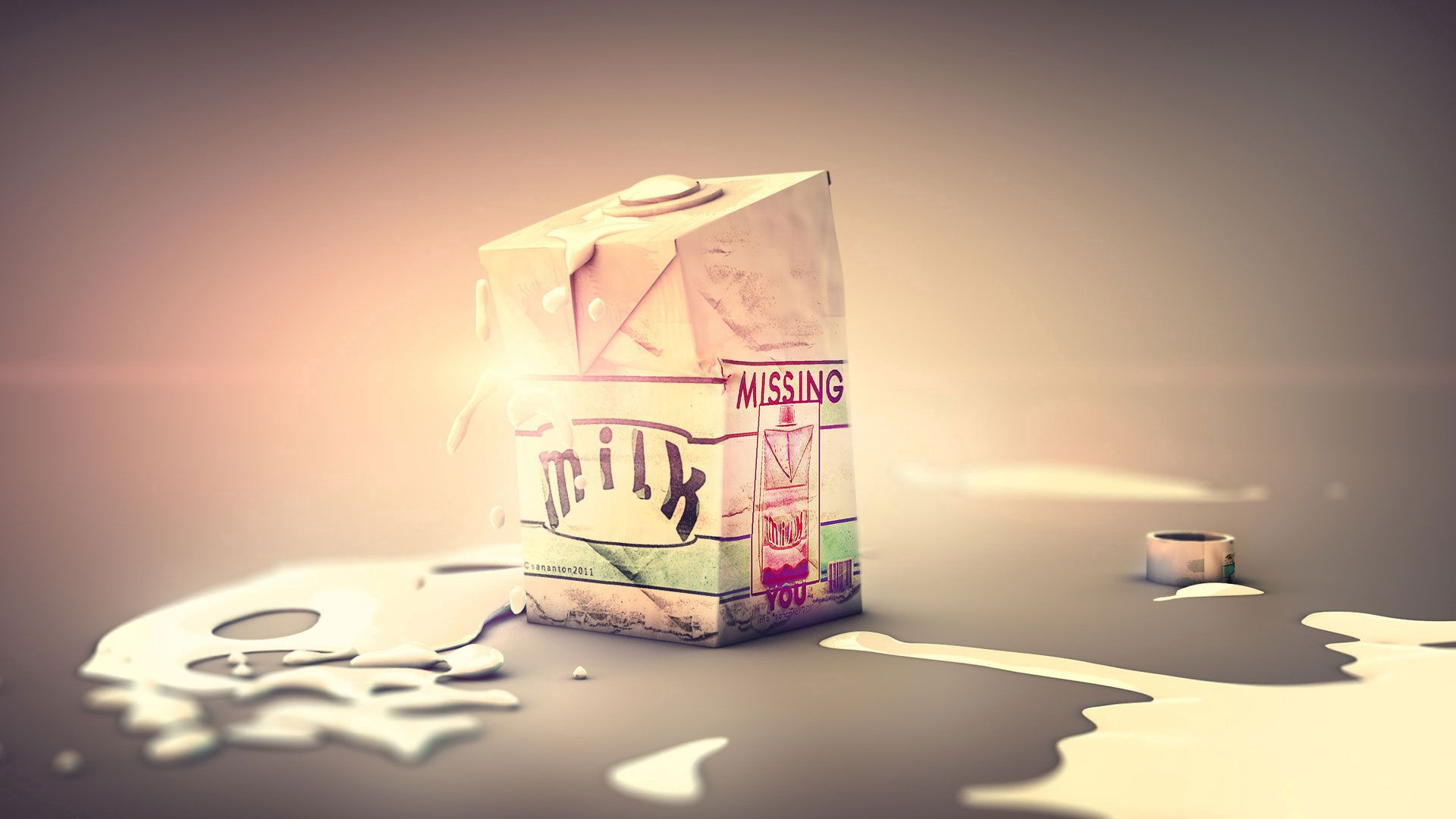 56498 download wallpaper Art, Milk, Box, Drops screensavers and pictures for free