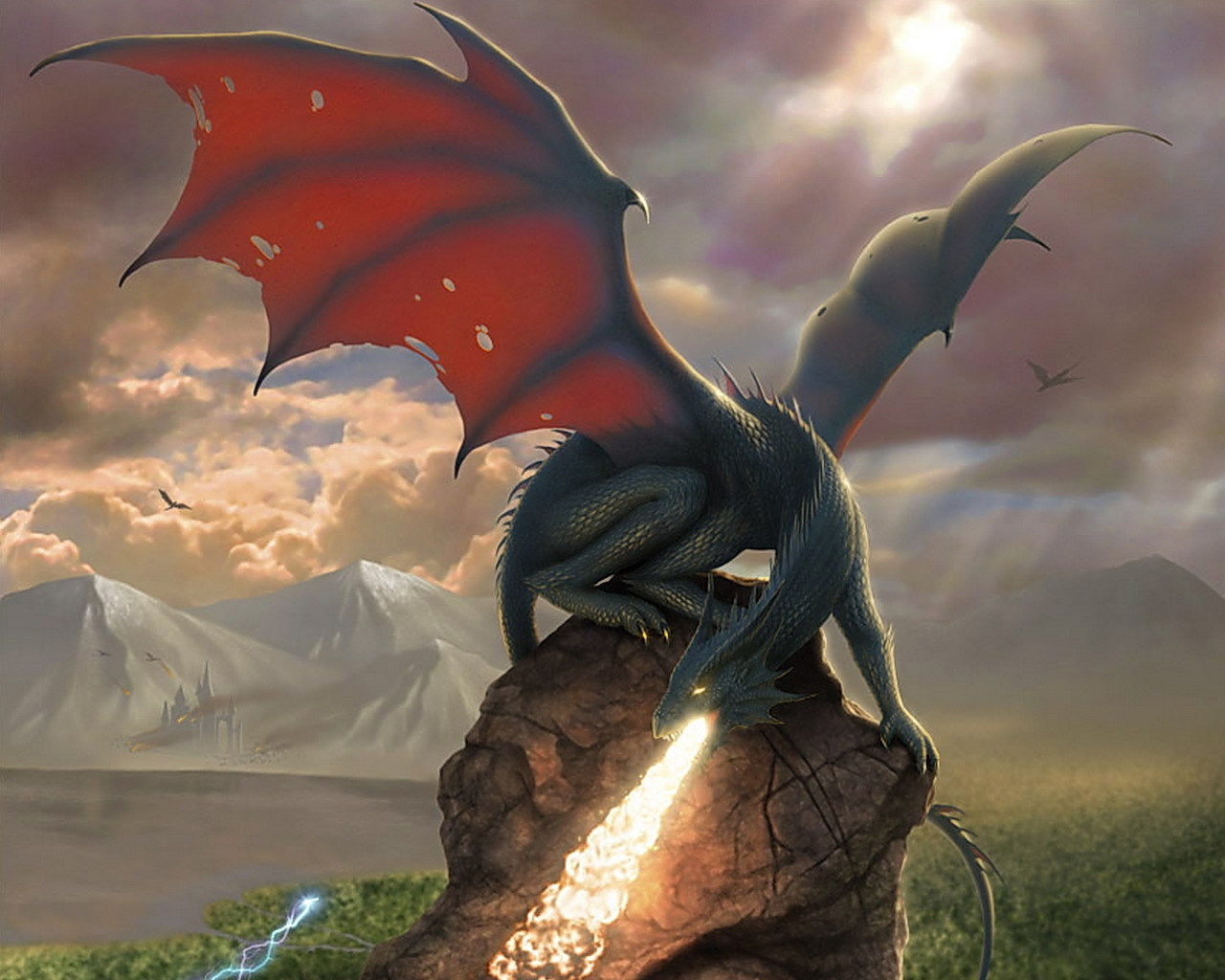 16788 download wallpaper Fantasy, Dragons screensavers and pictures for free