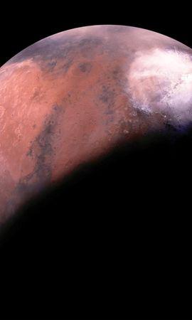 135901 скачать обои Марс, Планета, Тень, Космос - заставки и картинки бесплатно