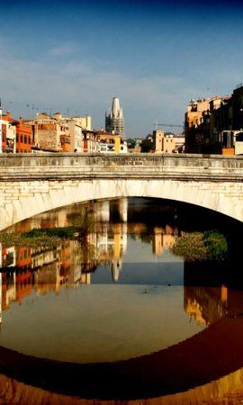 31068 скачать обои Пейзаж, Река, Мосты, Архитектура - заставки и картинки бесплатно