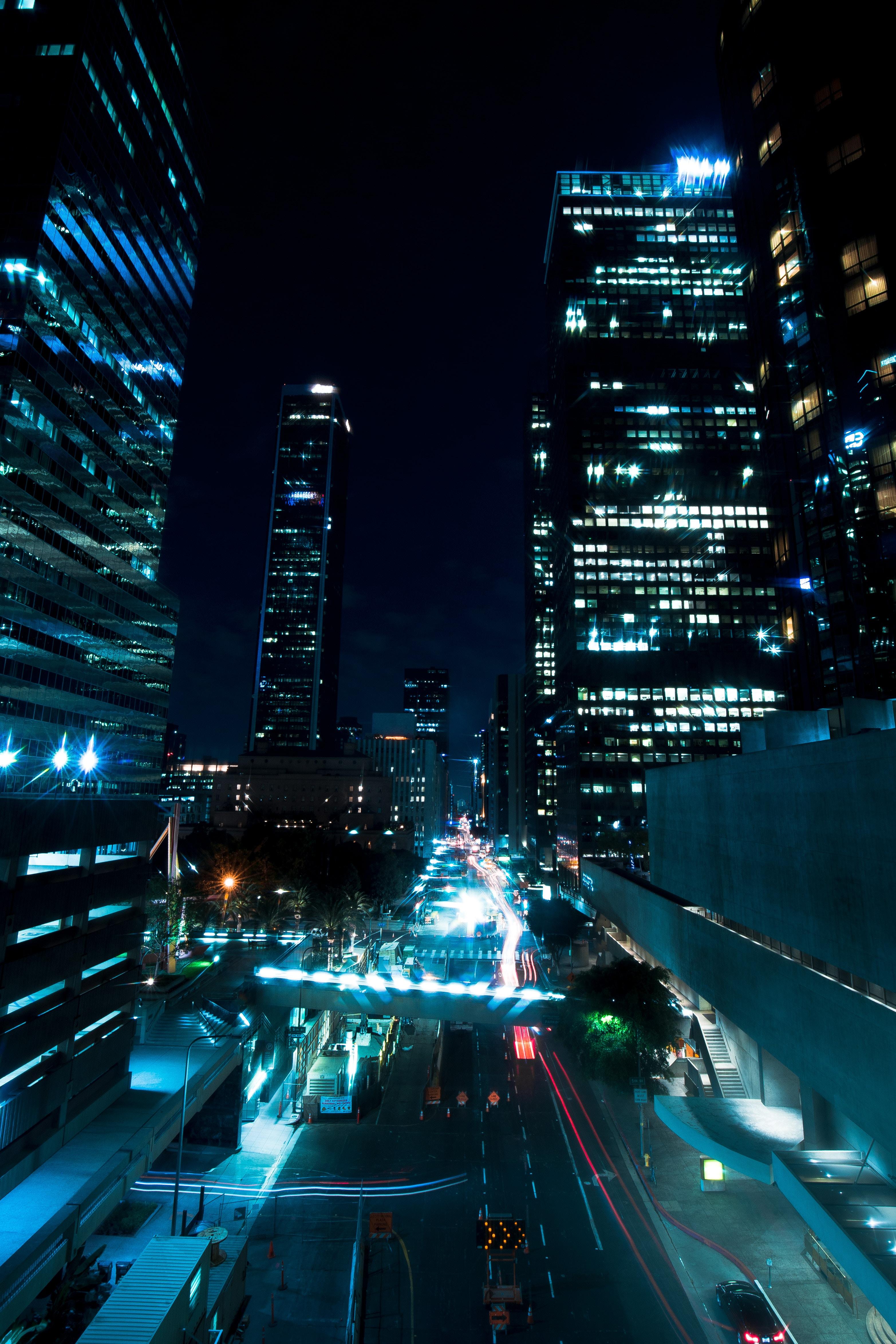 84114 скачать обои Улица, Городской, Огни, Подсветка, Здания, Архитектура, Города - заставки и картинки бесплатно